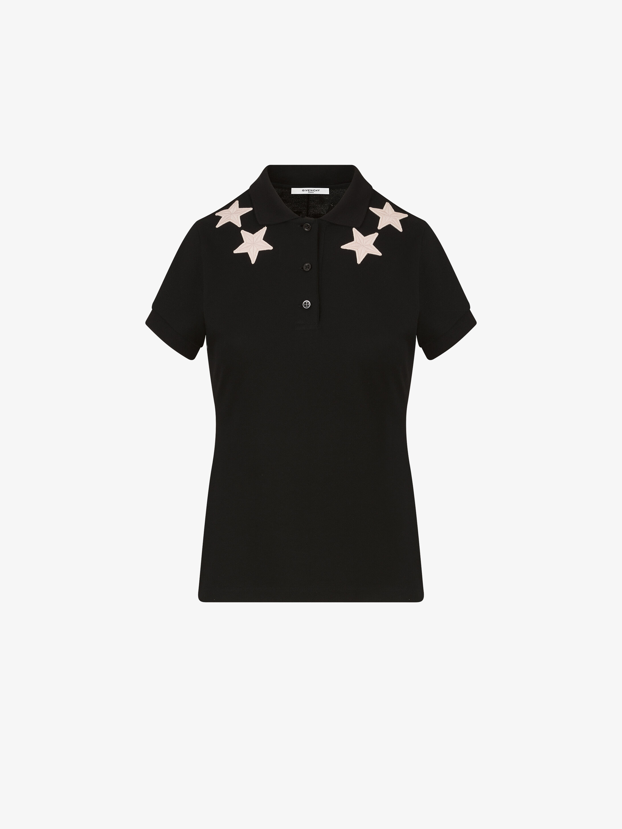 612587778 Givenchy Stars emrboidered polo shirt