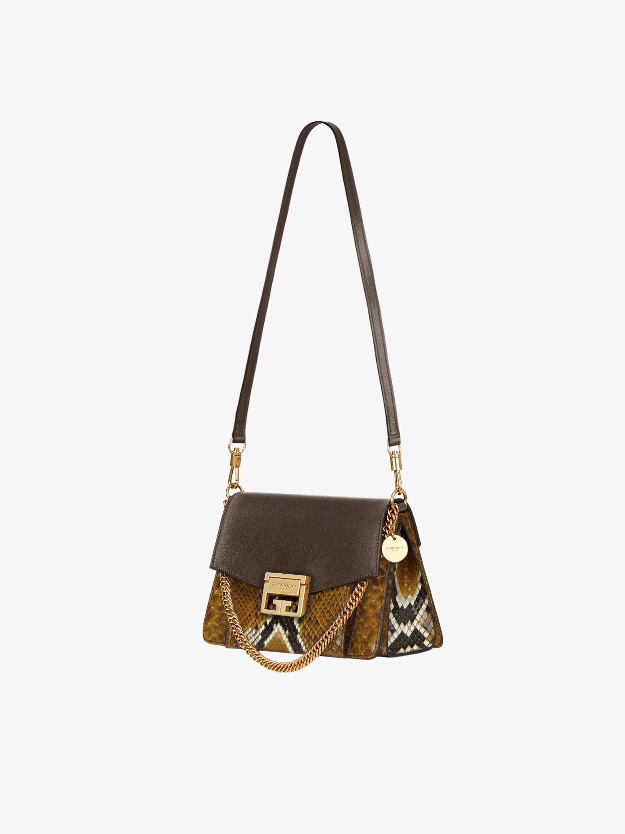 b8fef0233c2b Small GV3 bag in python and leather