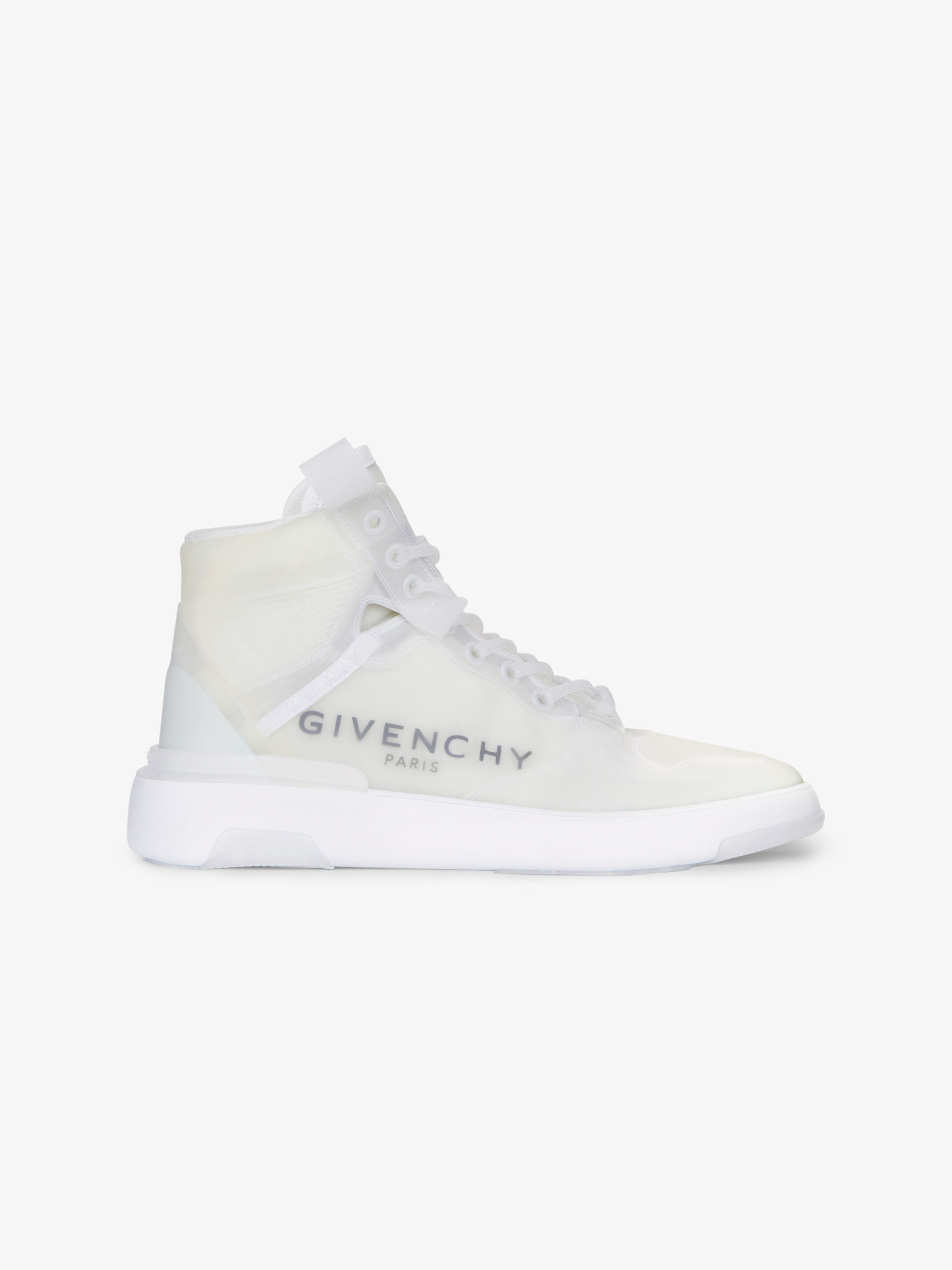 Wing mid transparent sneakers