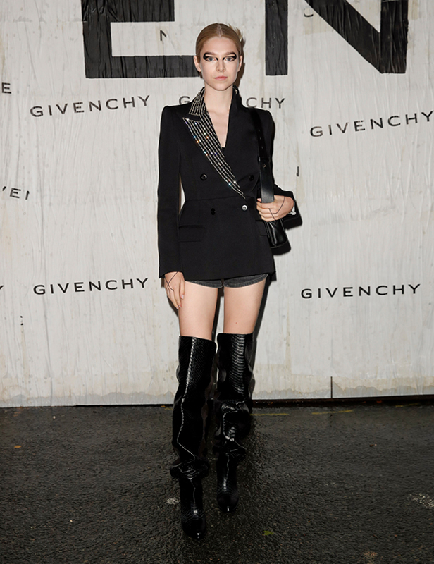 Celebrities in Givenchy at the SS20 Show