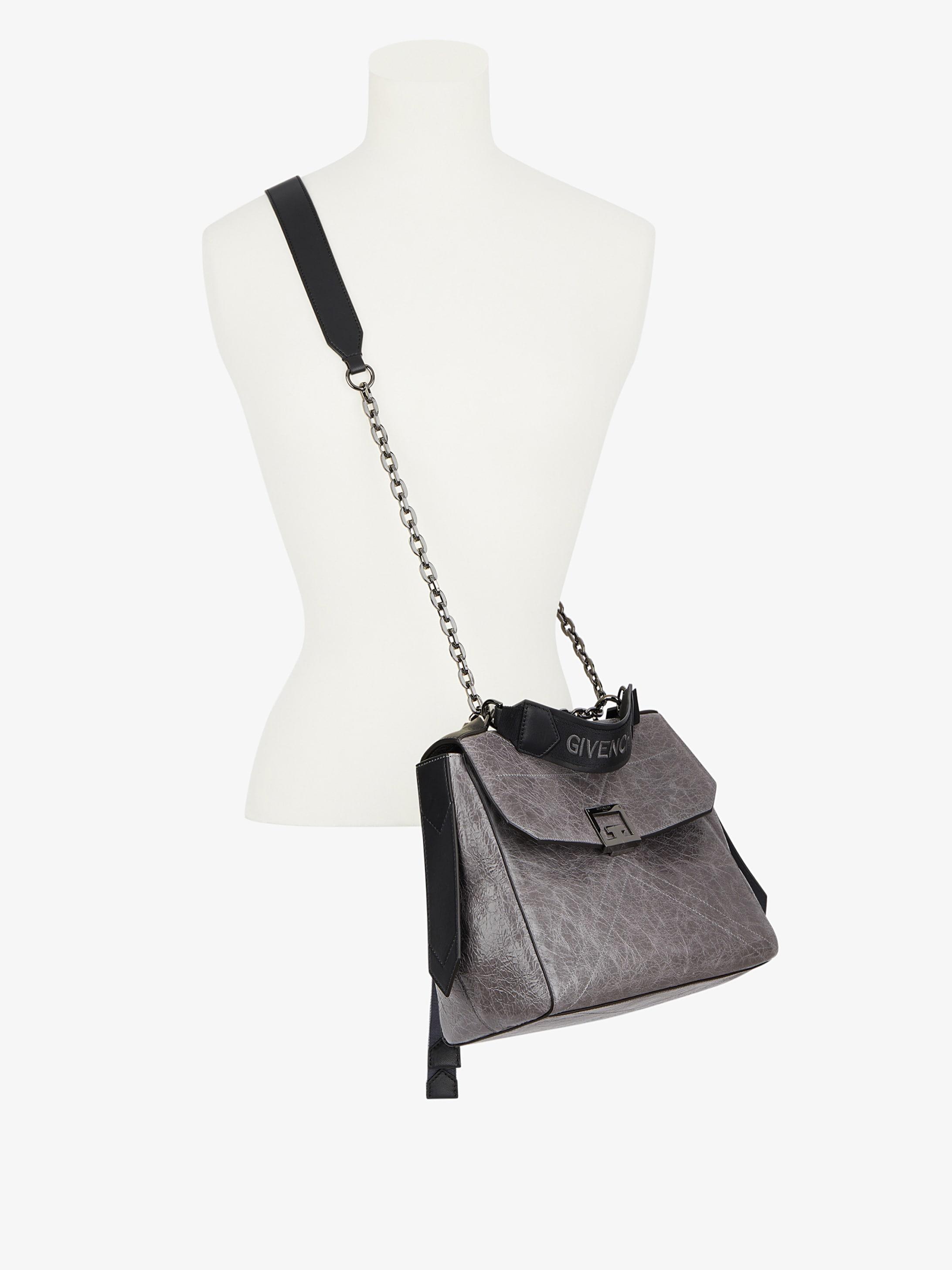 Medium ID bag in cracked leather