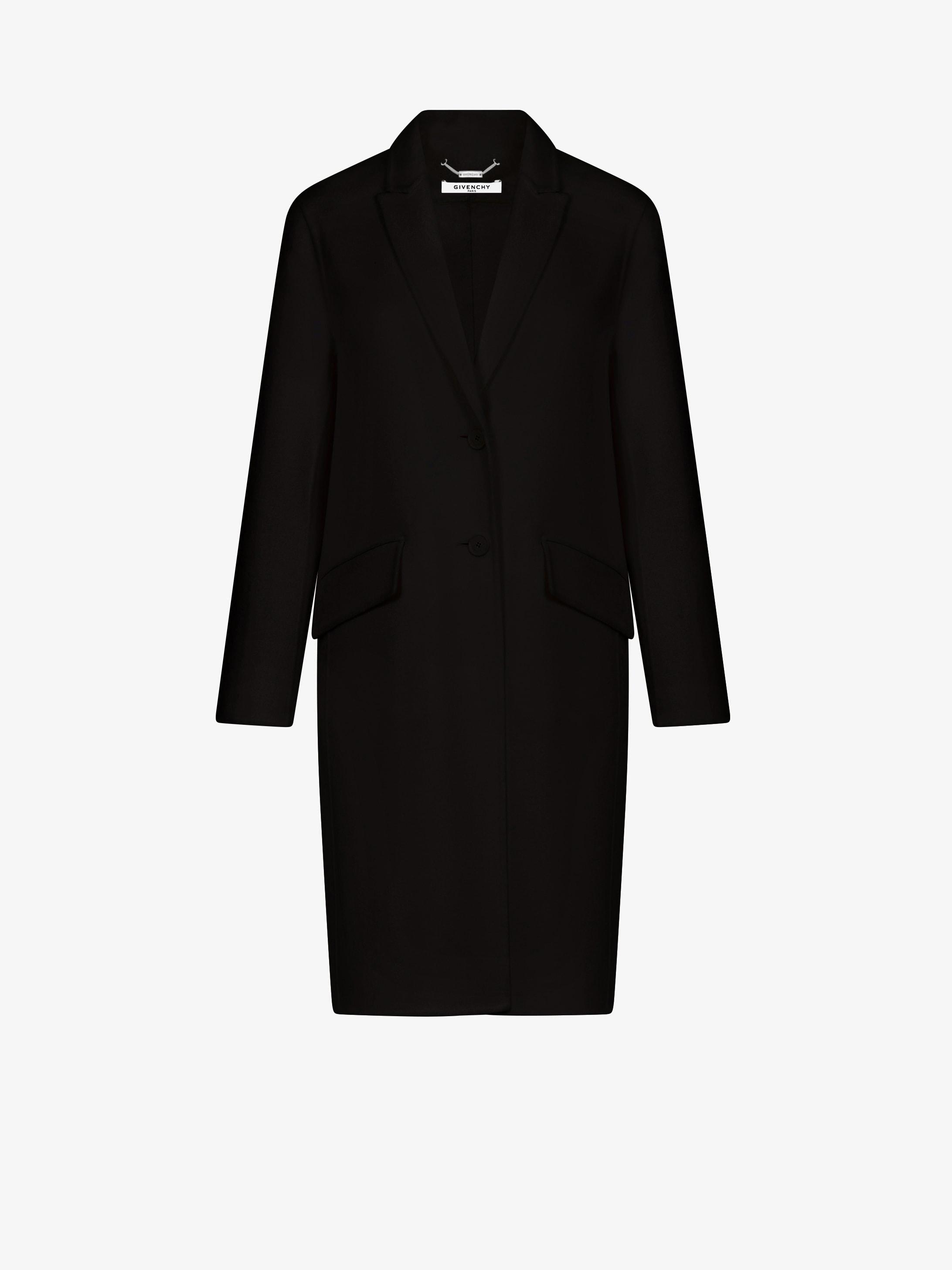 Long masculine coat in cashmere