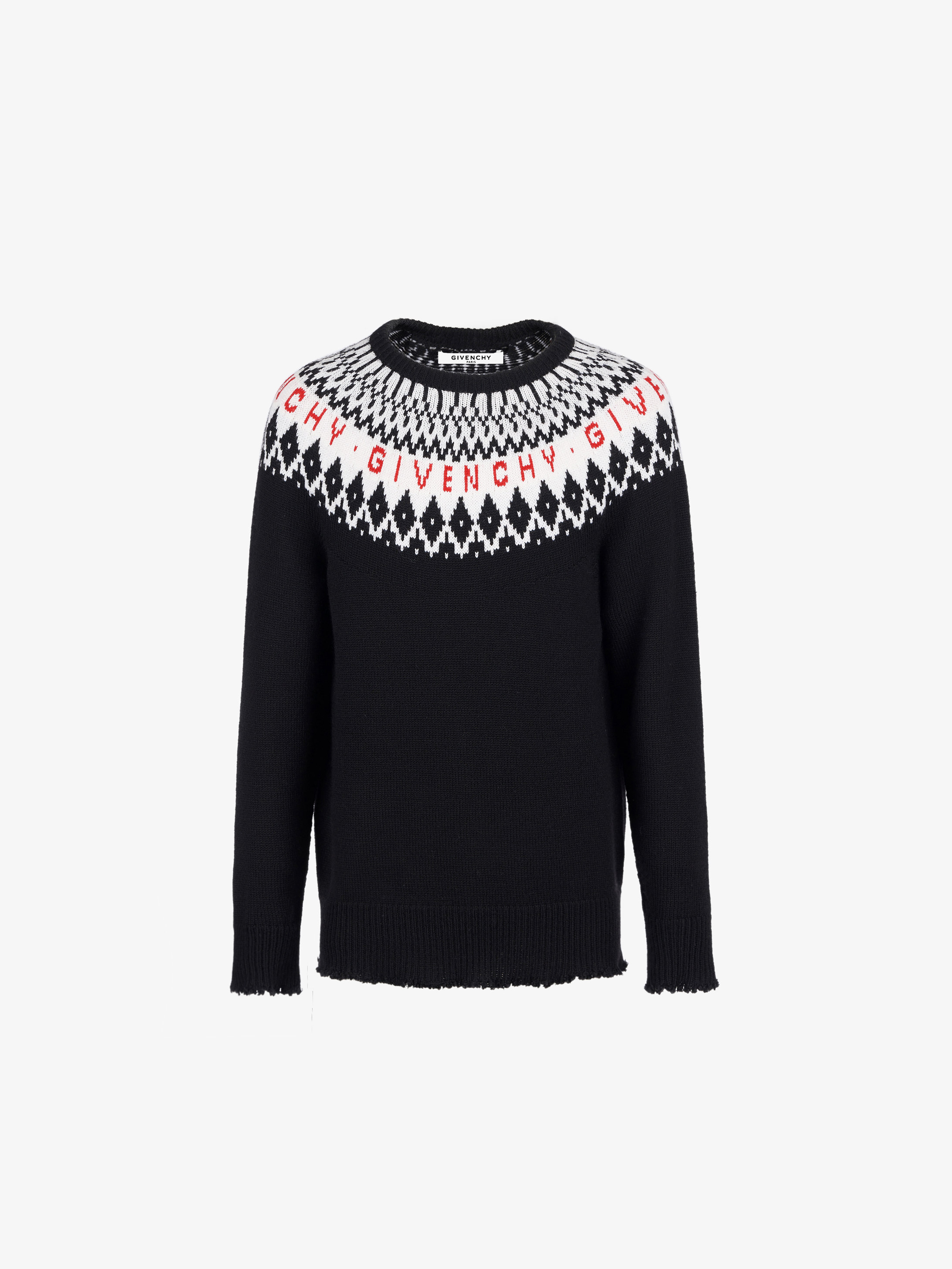 GIVENCHY PARIS jacquard sweater in merinos
