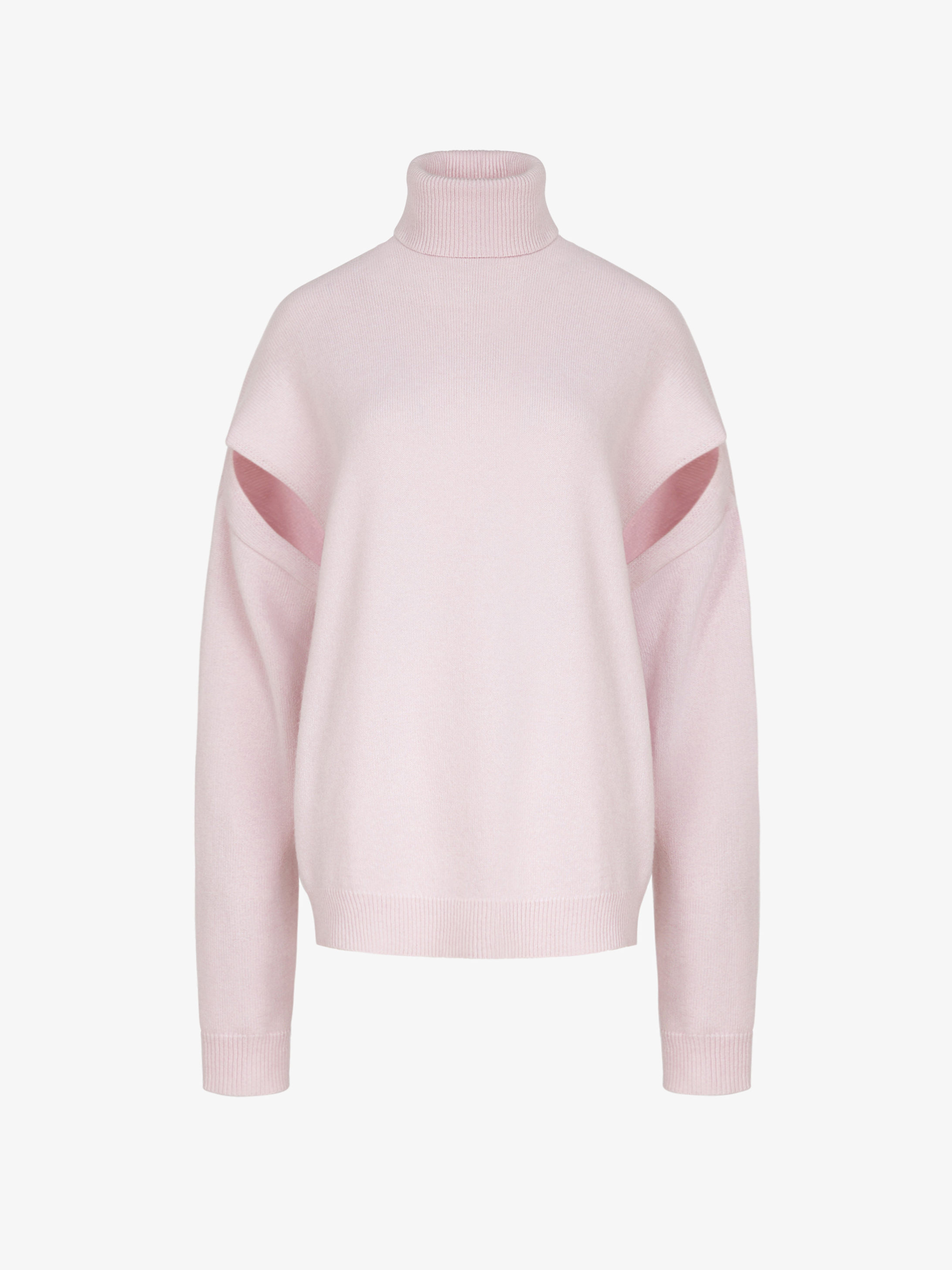 Sweater in cashmere with cutouts