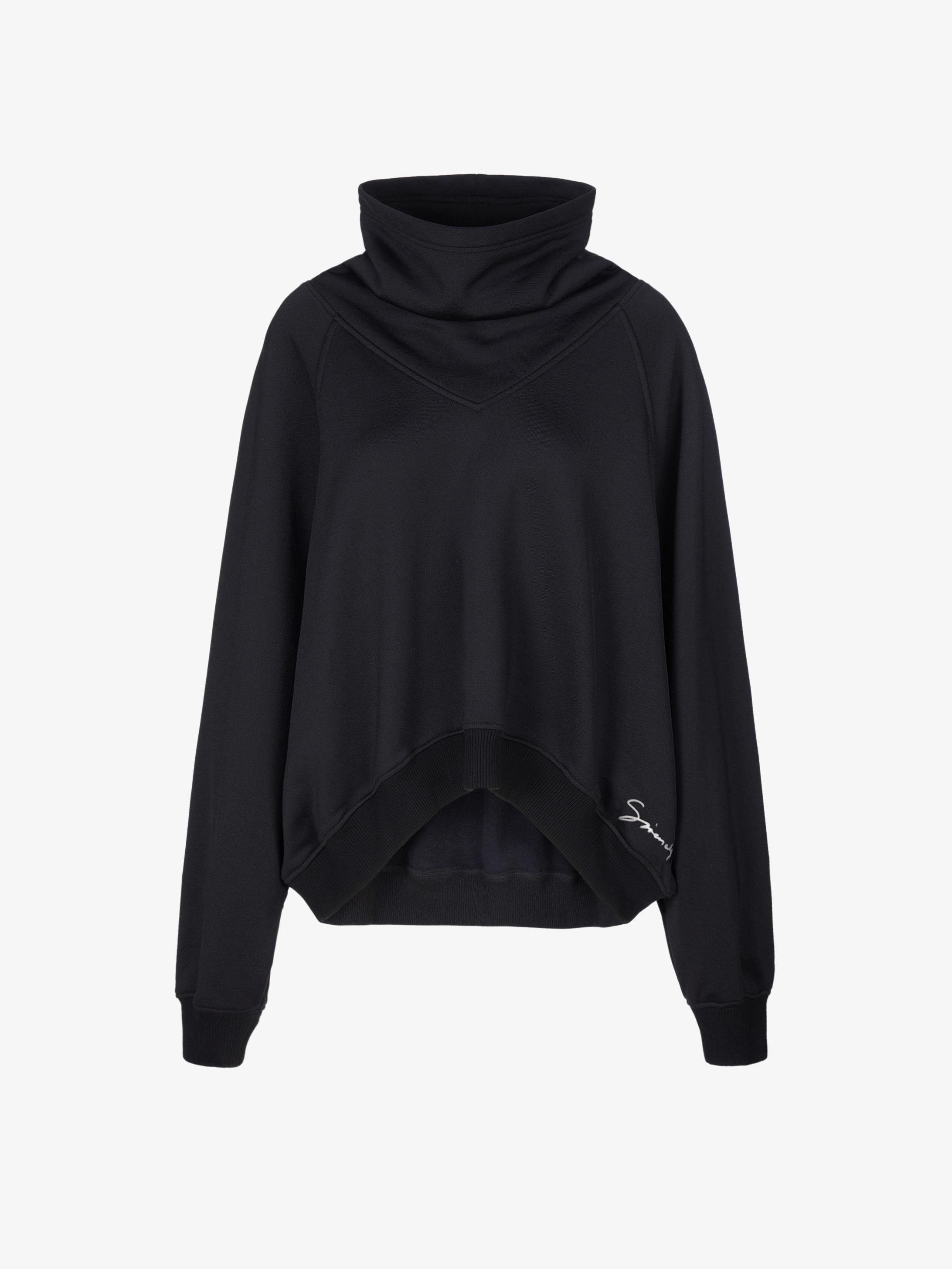 GIVENCHY oversized raglan sweatshirt with funnel collar
