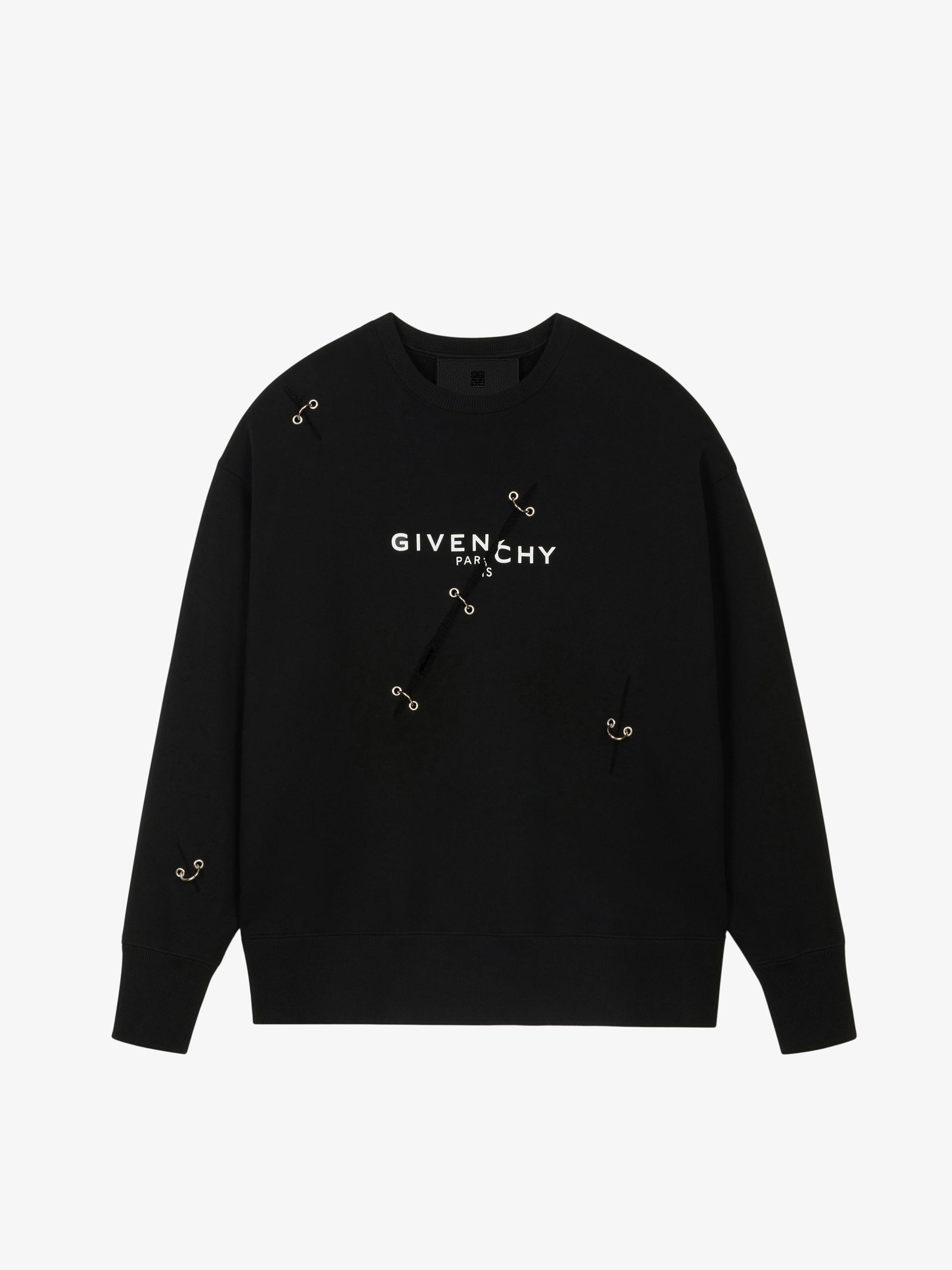 Sweatshirt oversized GIVENCHY à détails métalliques