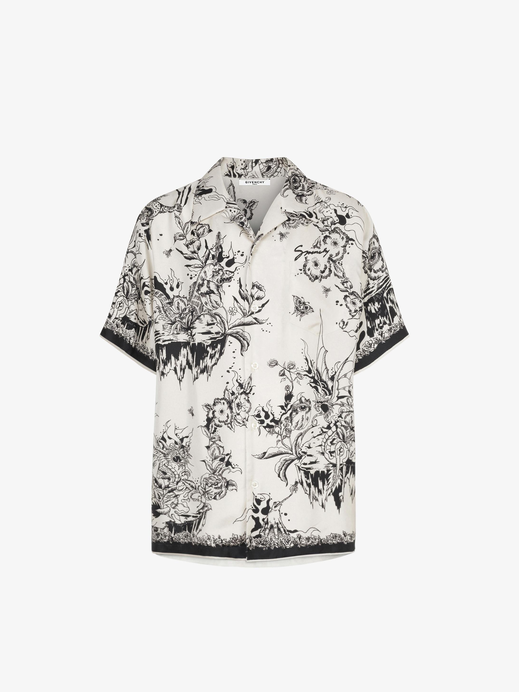 0cab2edf Monster printed Hawaiian shirt in silk | GIVENCHY Paris
