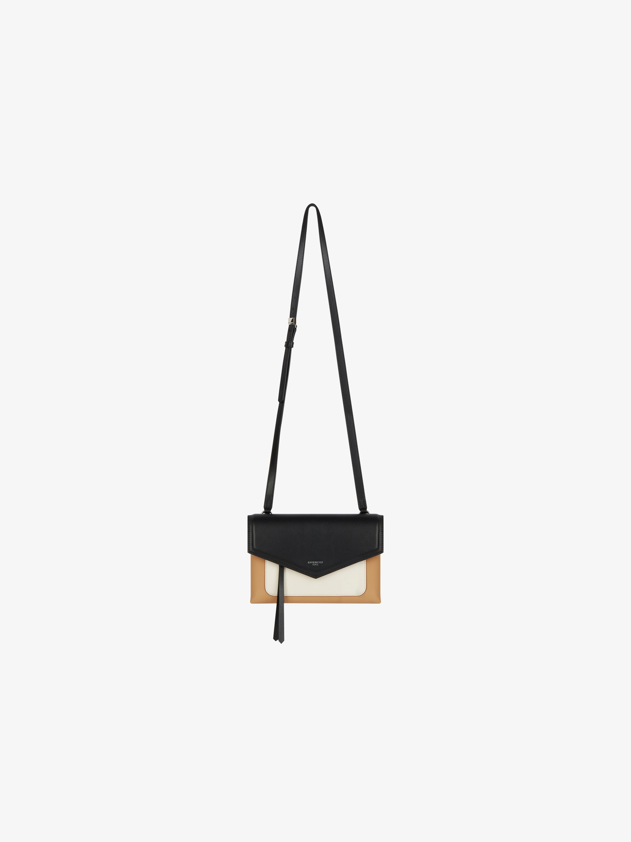 Tricolored Duetto leather bag
