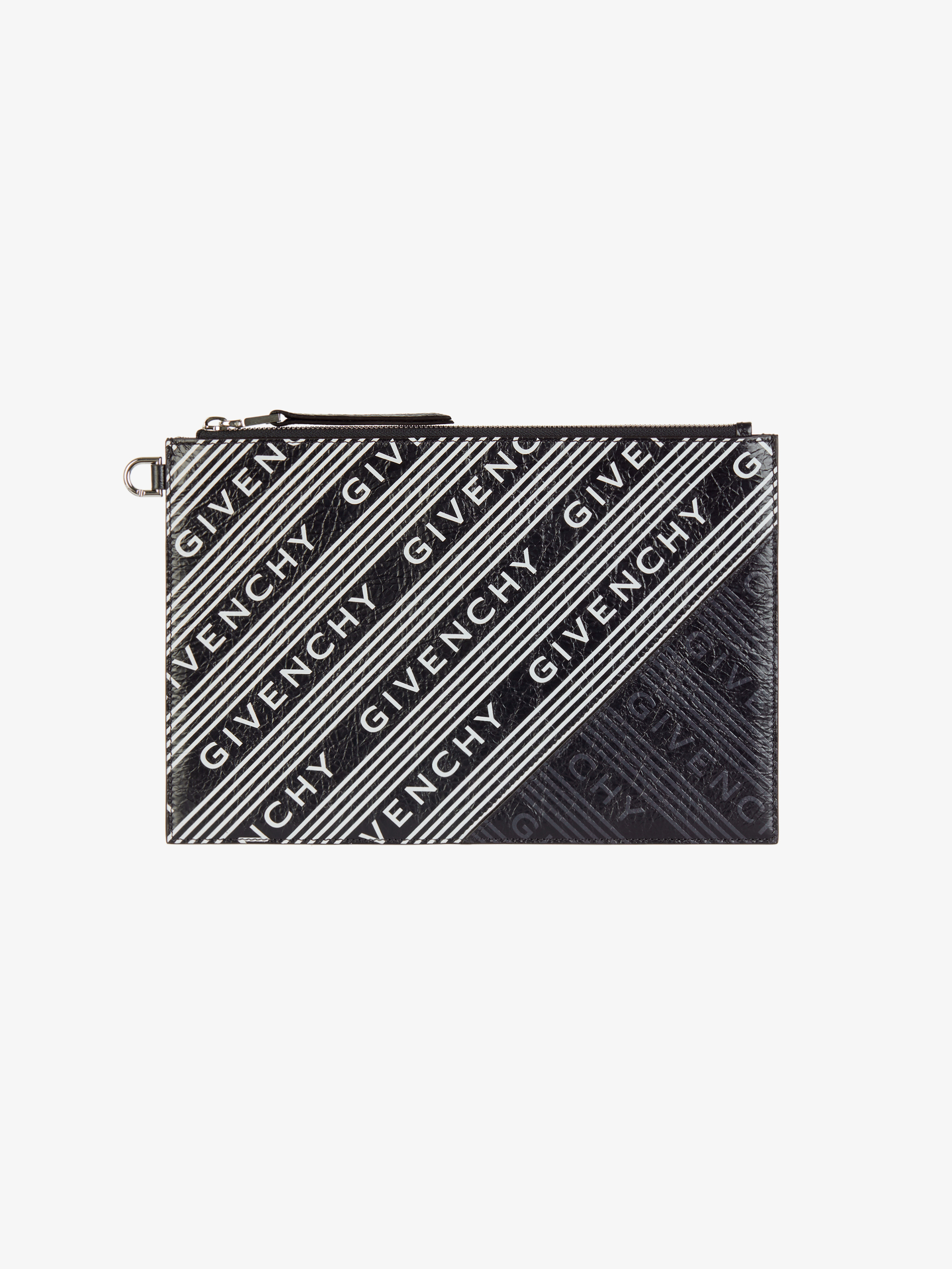GIVENCHY medium pouch in striped leather