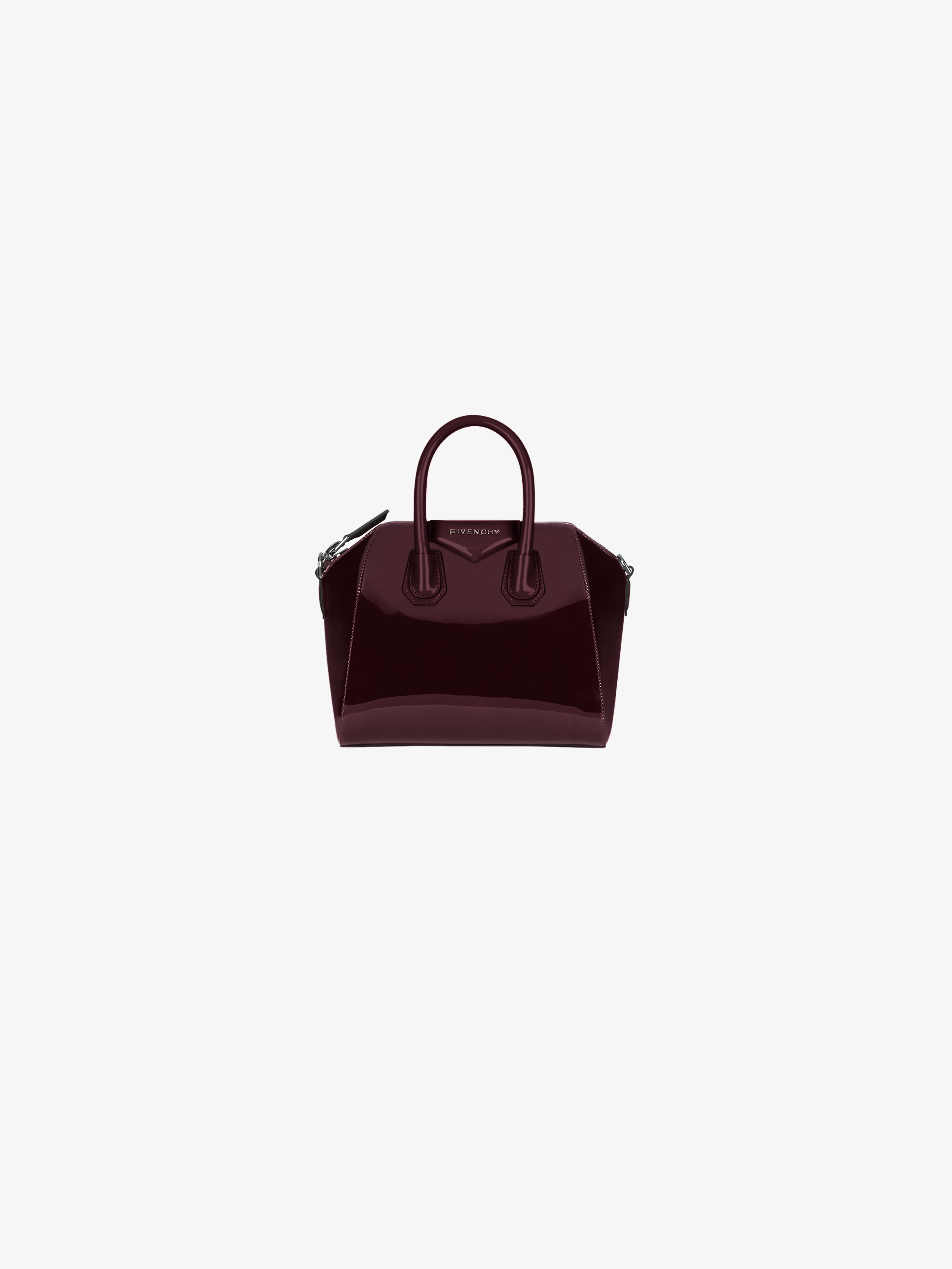 Mini Antigona bag in varnished leather