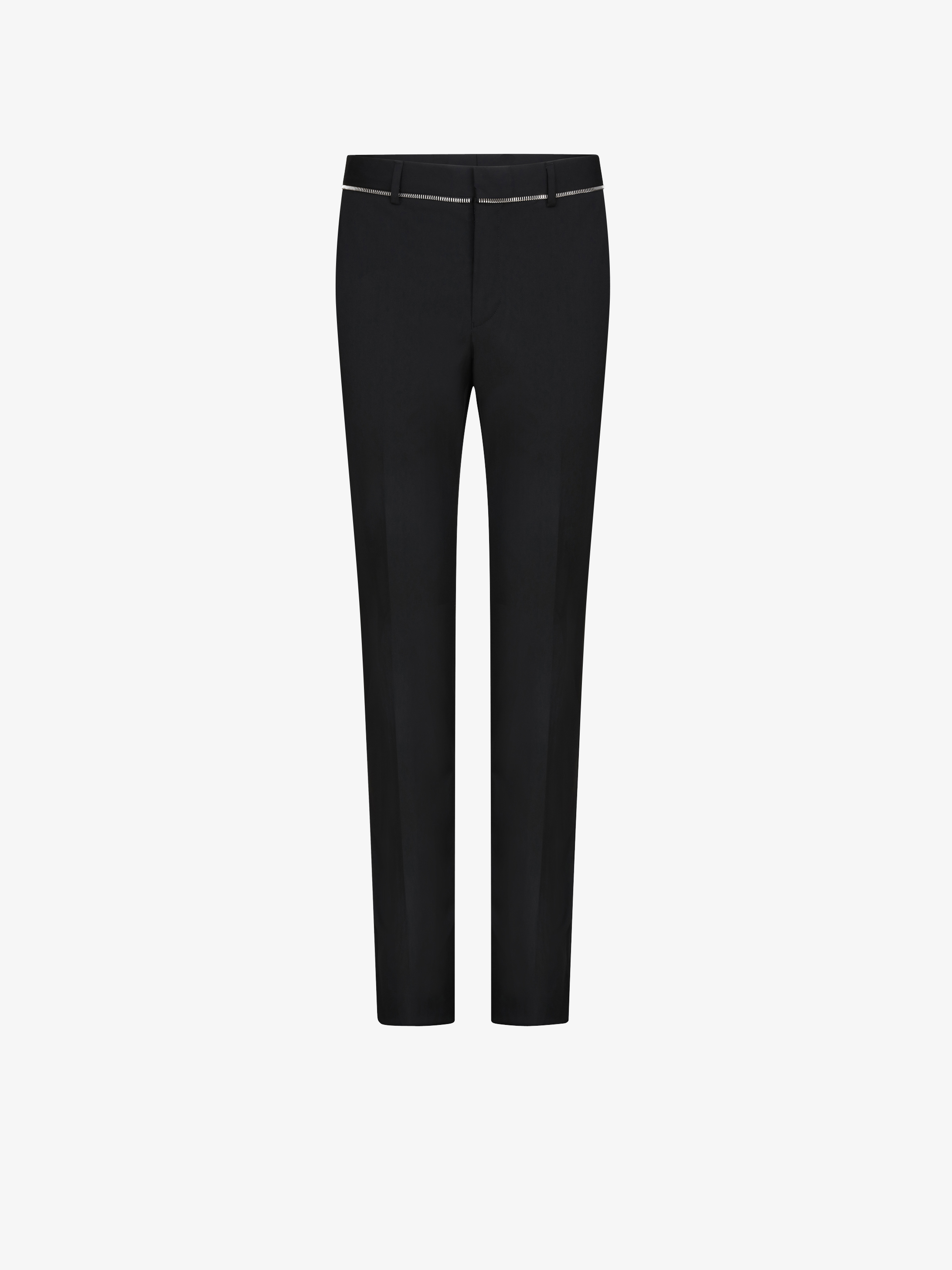 Slim fit trousers with zip
