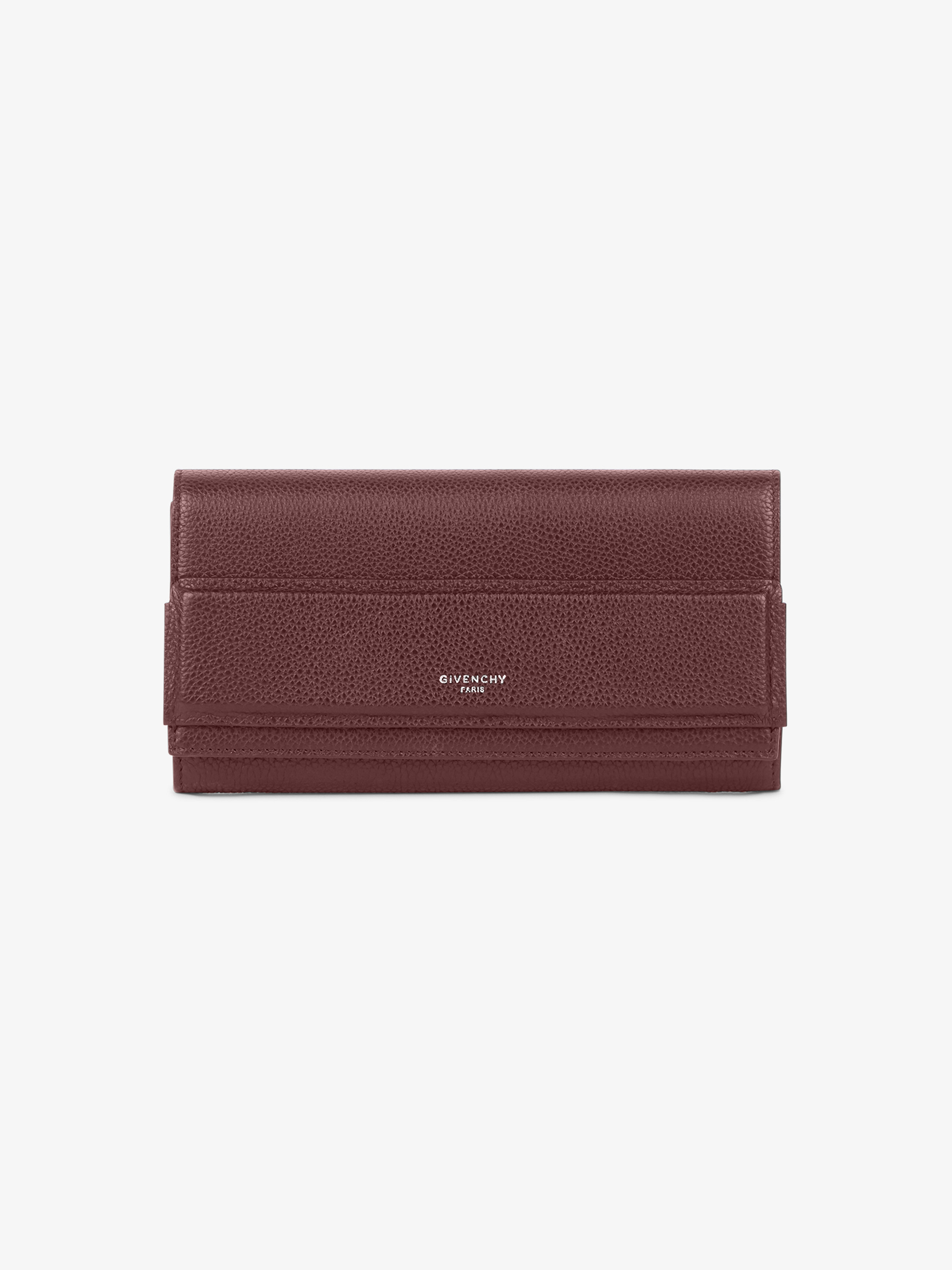 Horizon long flap wallet in smooth leather