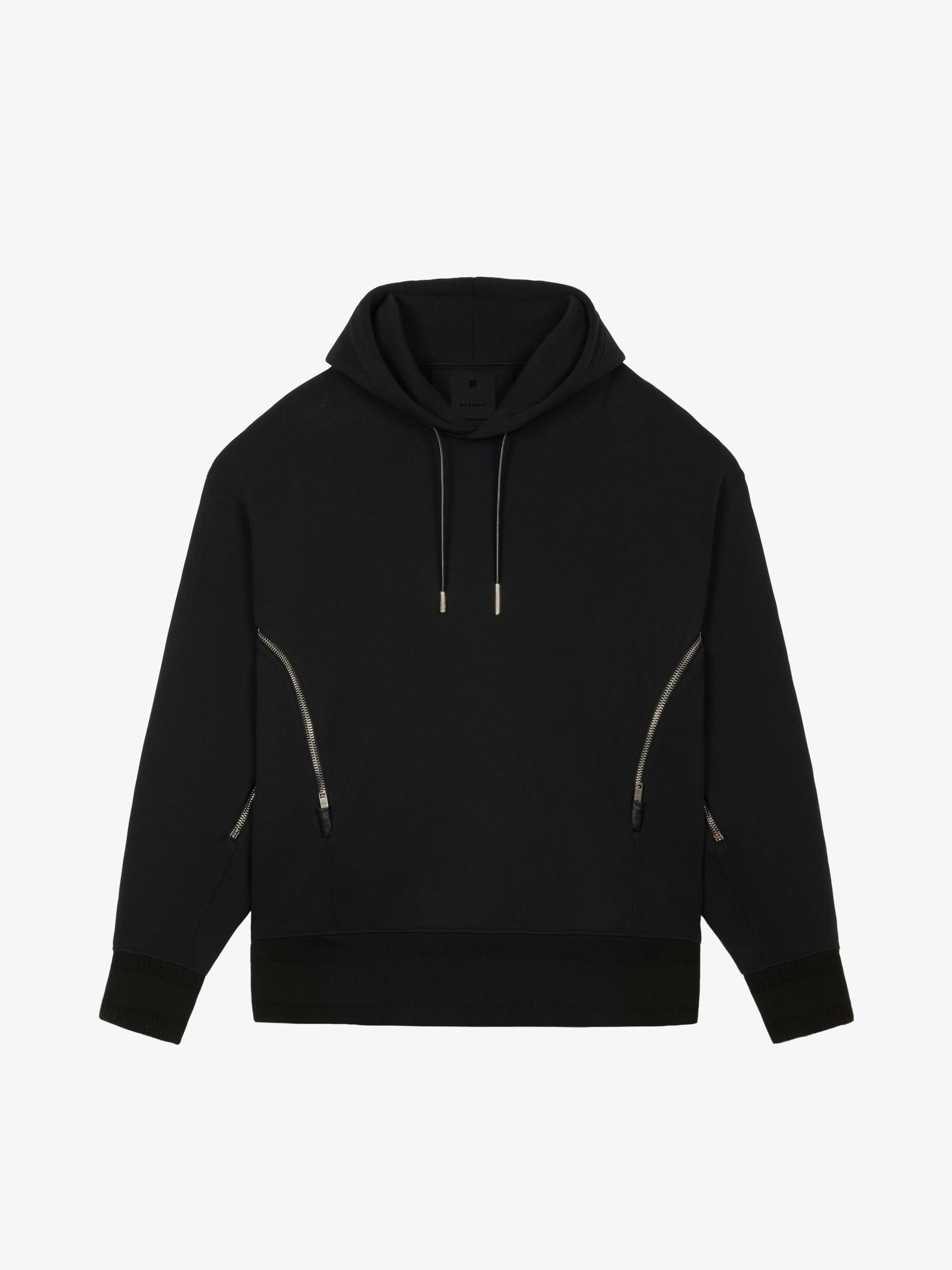 Sweatshirt à capuche oversized avec zips