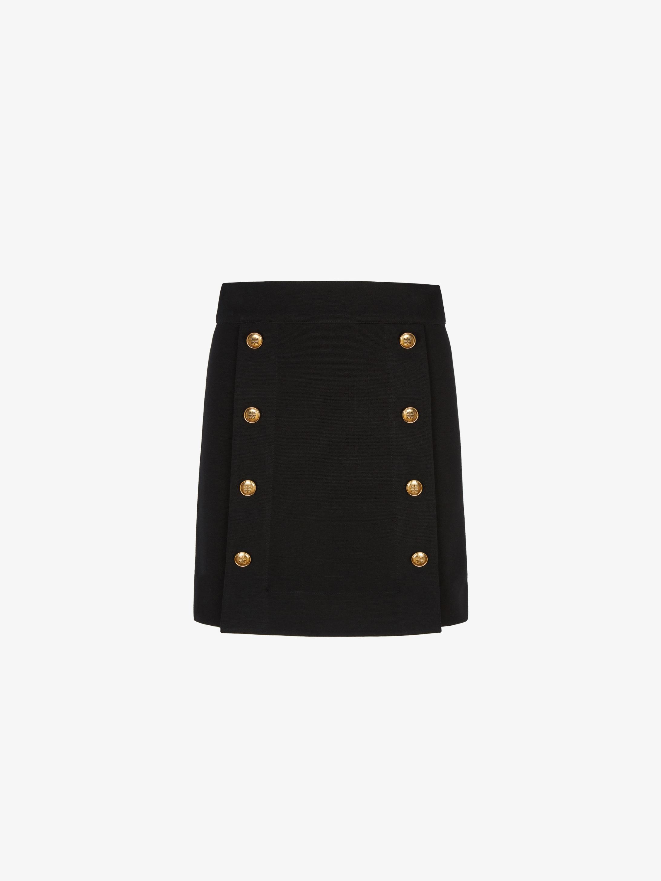 Mini-jupe à boutons 4G