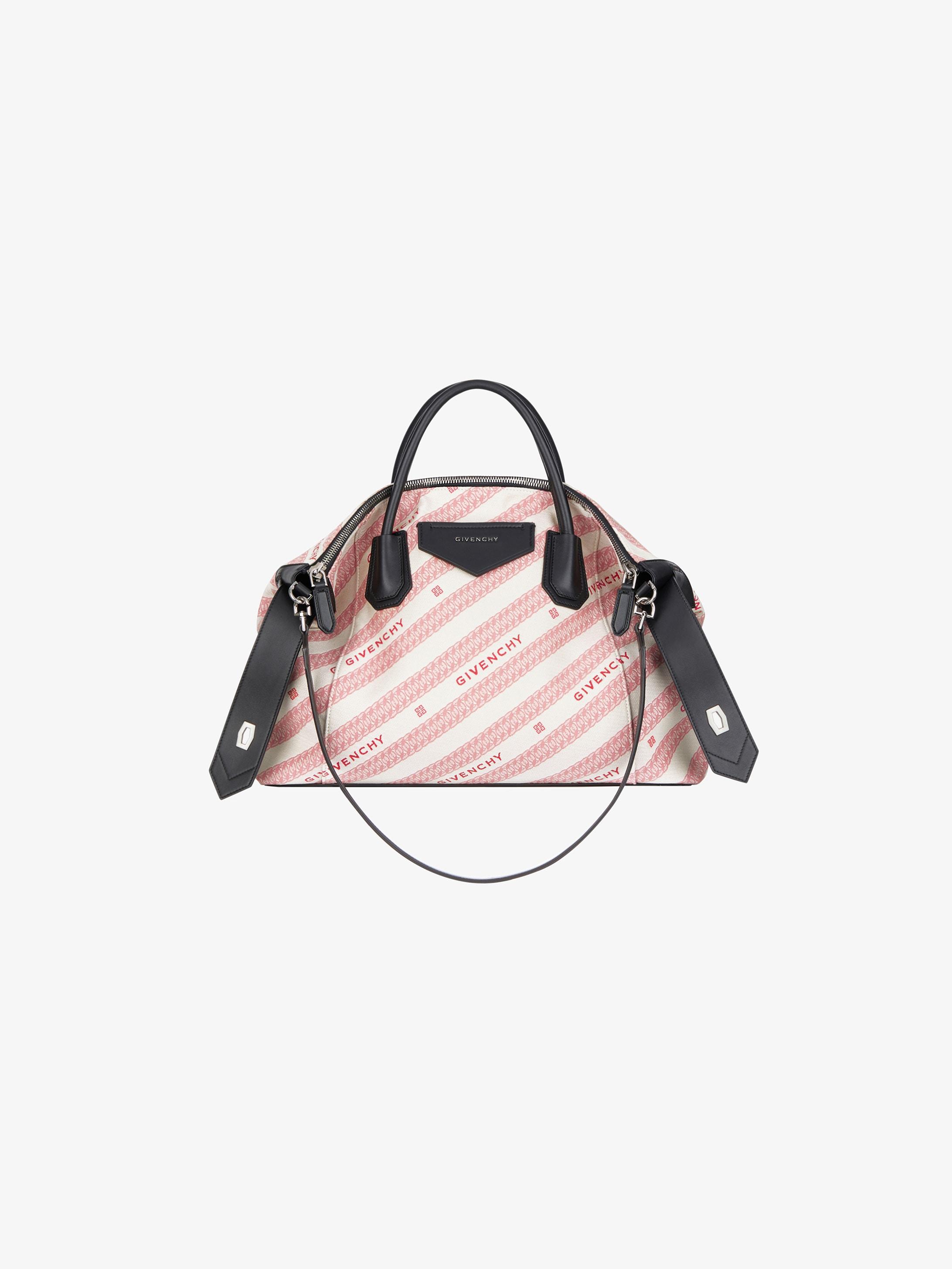 Medium Antigona Soft bag in GIVENCHY jacquard chain and leather