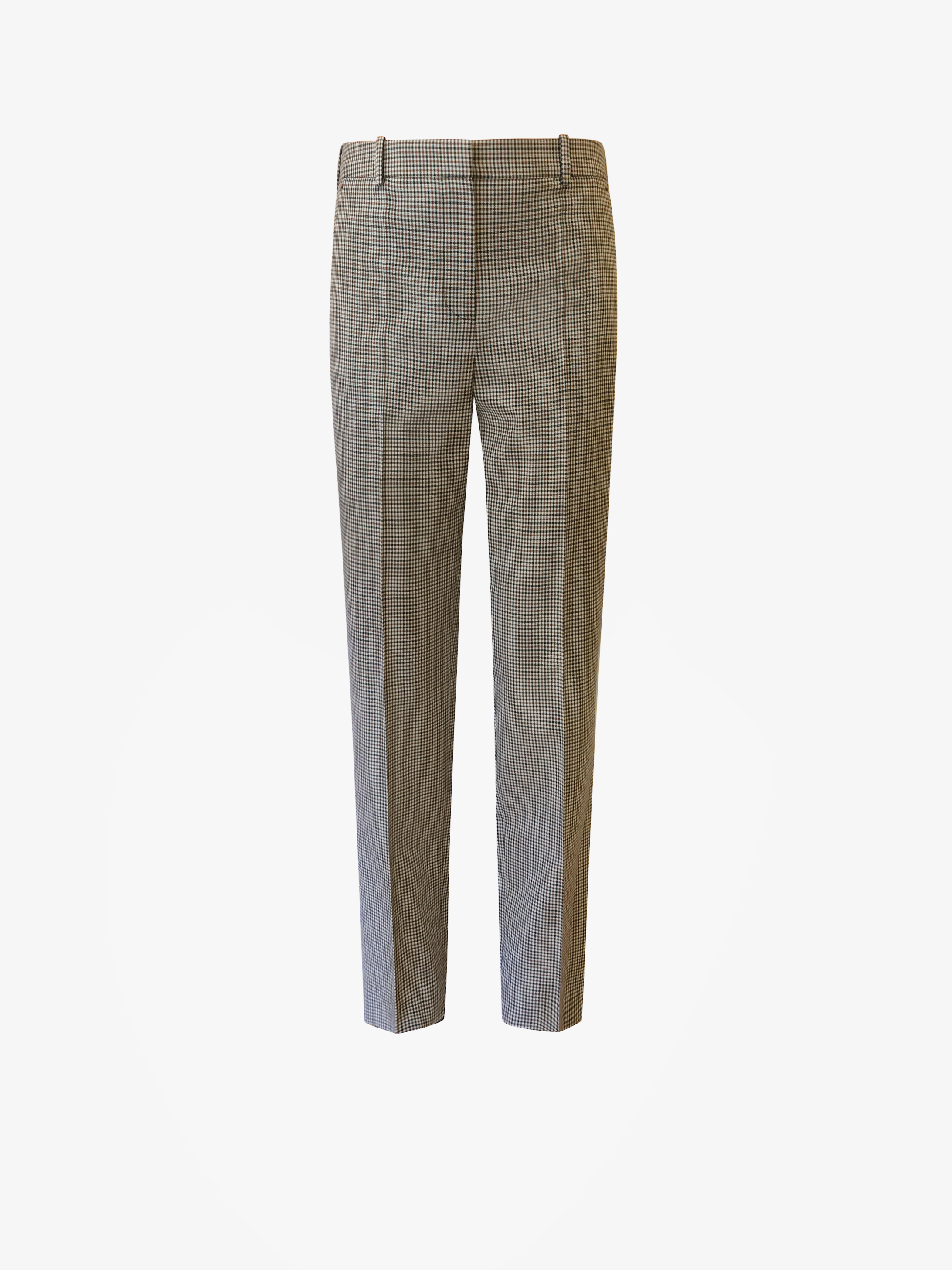 Cigarette trousers with micro check tailorin