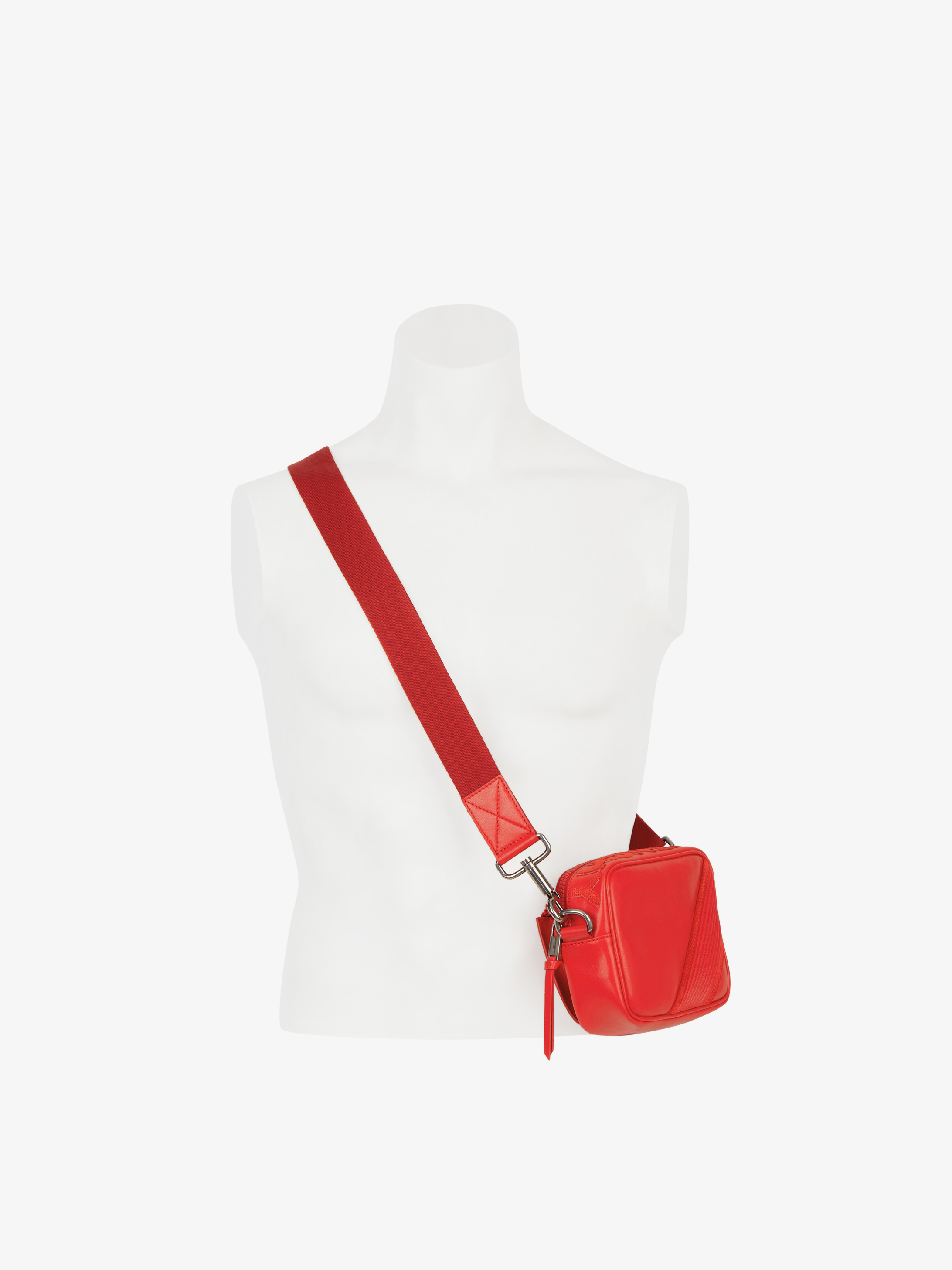 Reverse GIVENCHY crossbody bag in leather and suede