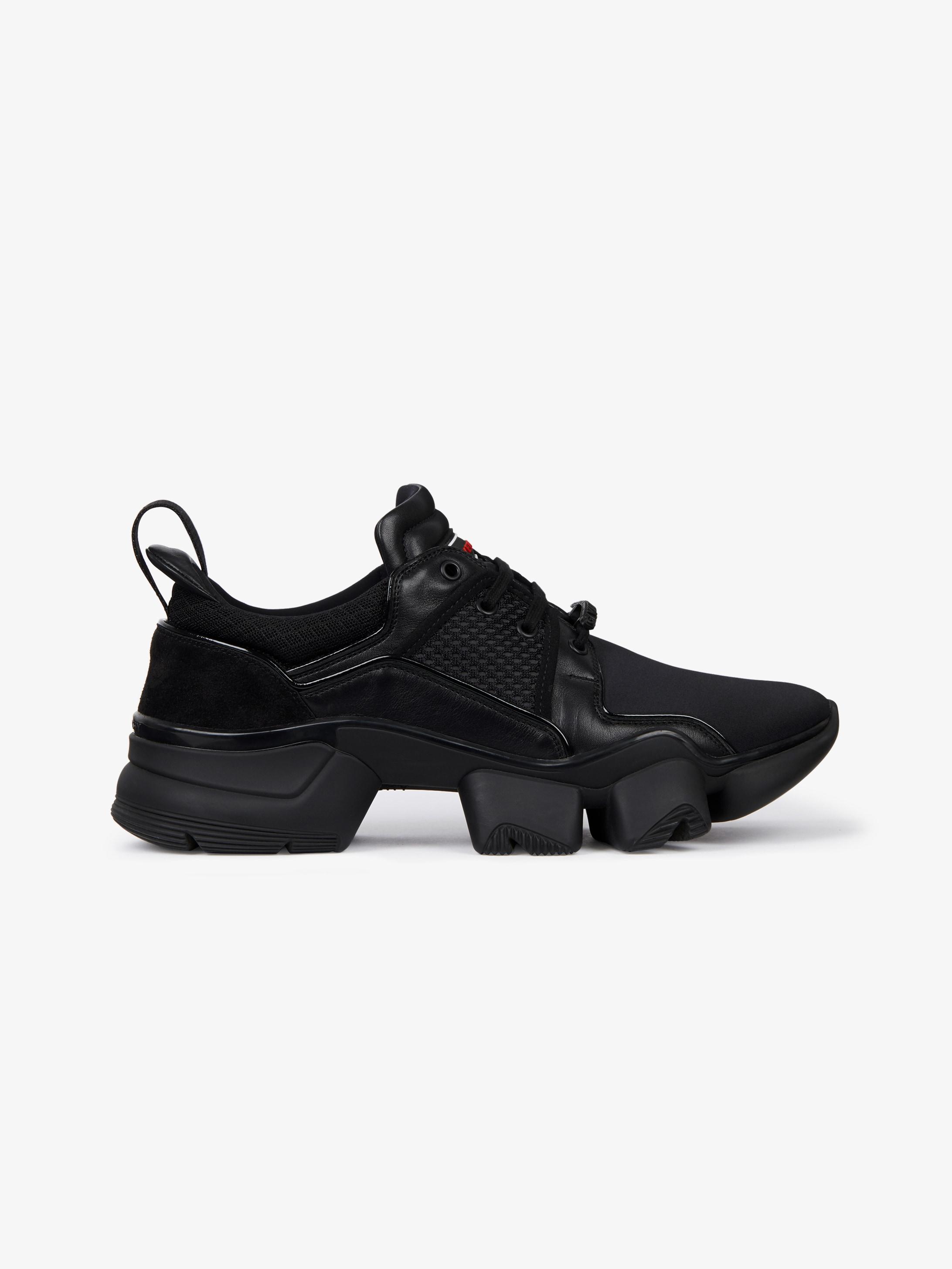 Sneakers basses JAW en néoprène et cuir