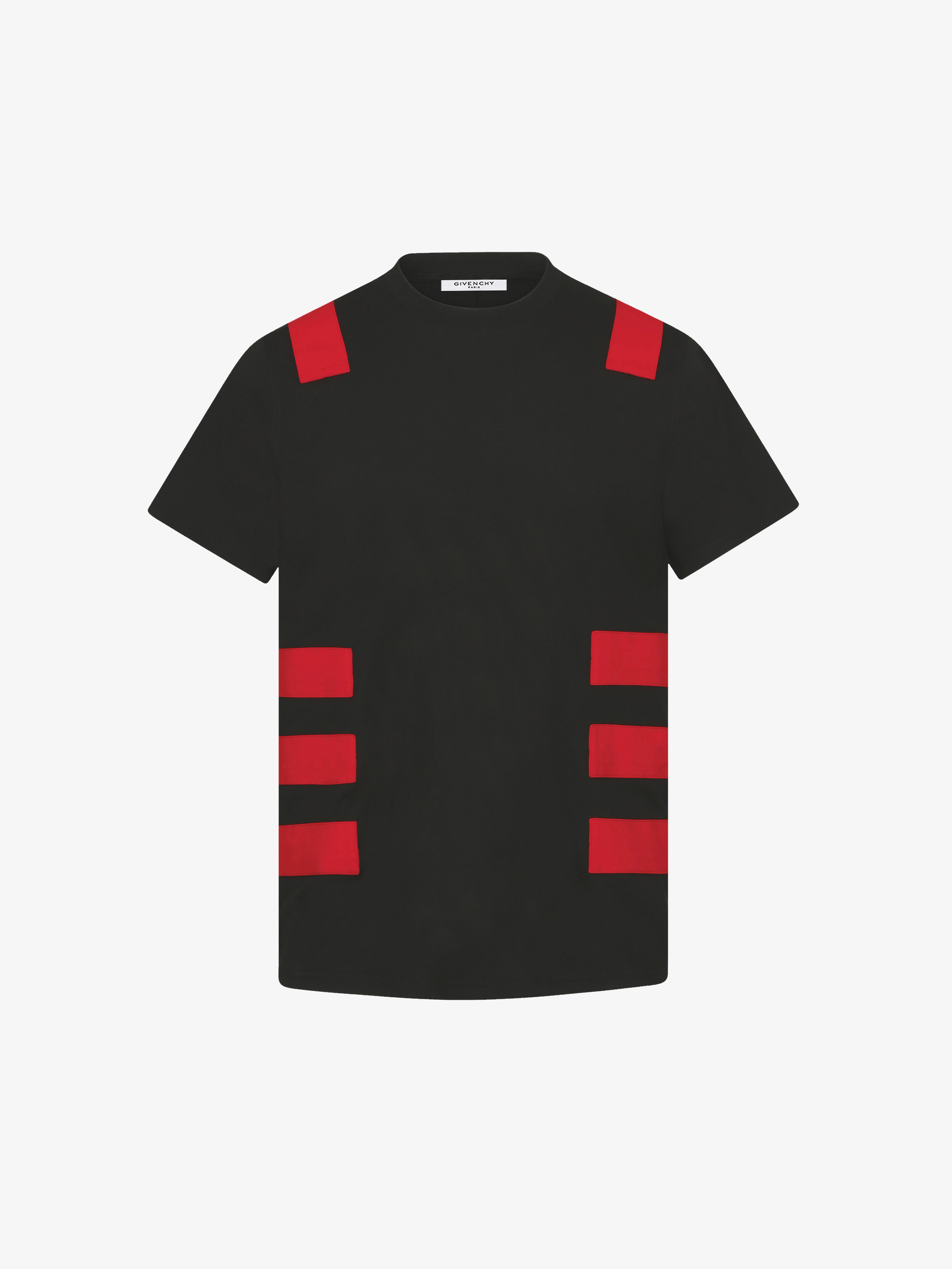 Contrasted bands t-shirt