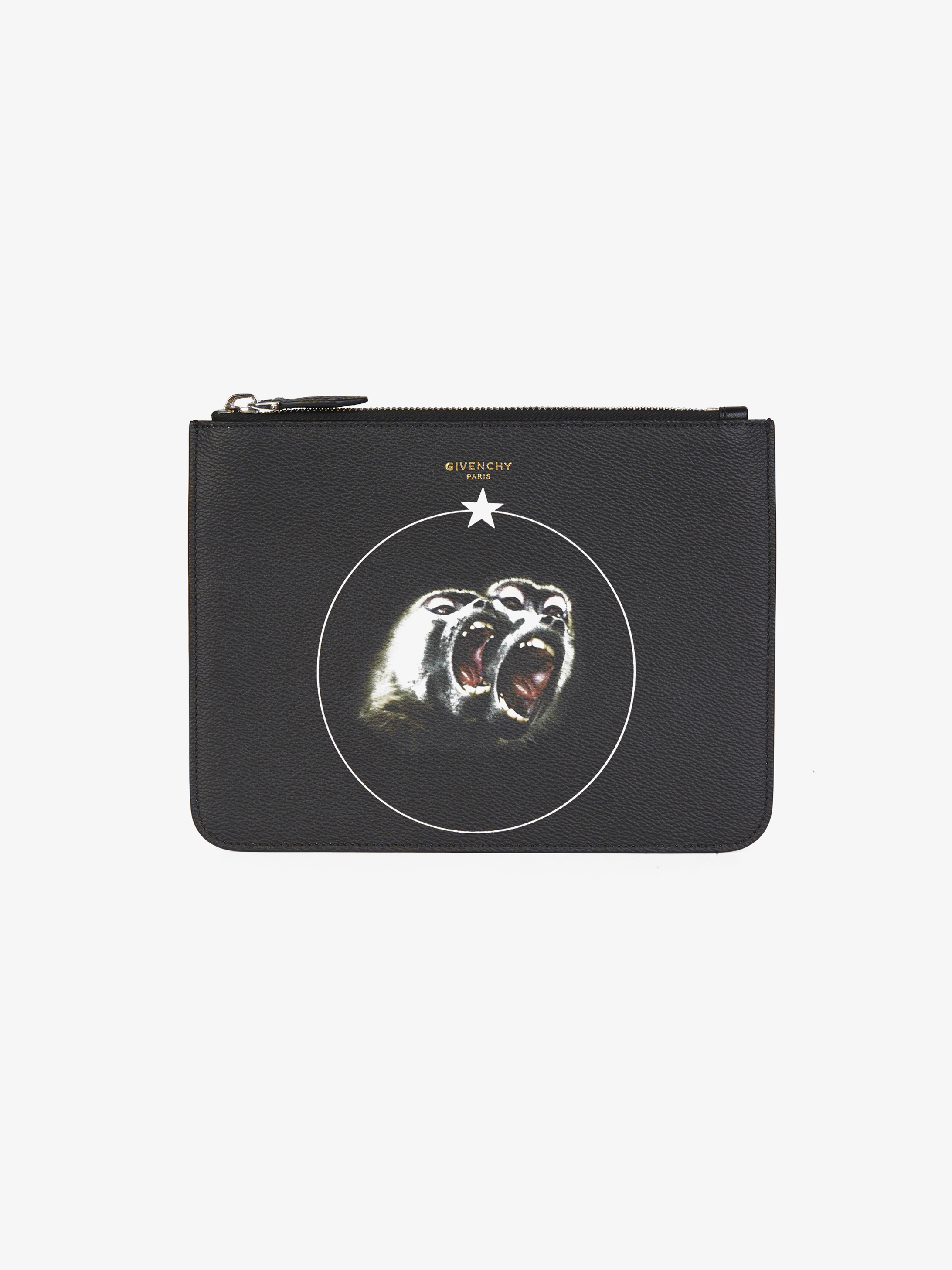 Large Monkey Brothers printed pouch
