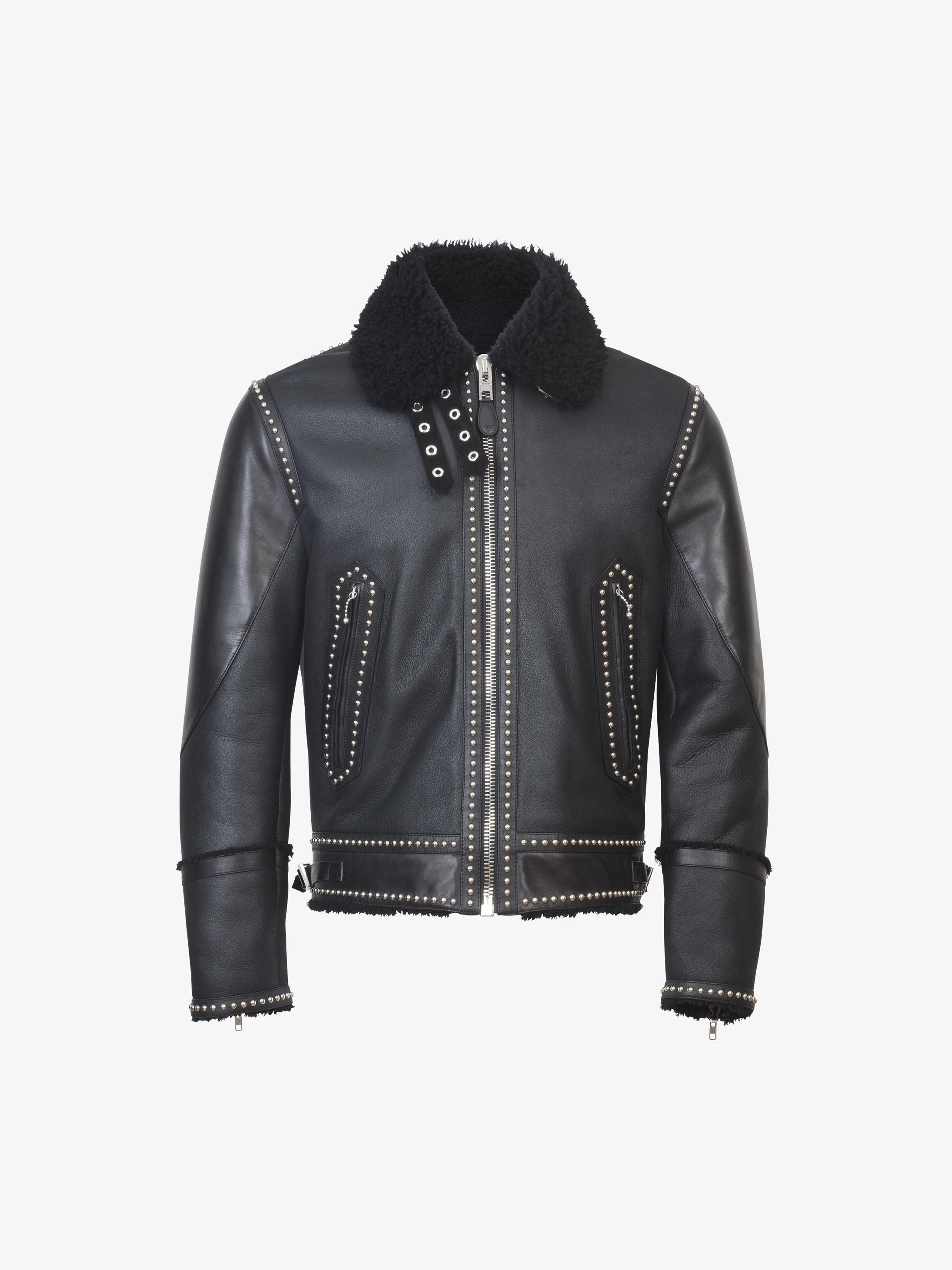 Slim fit jacket in shearling