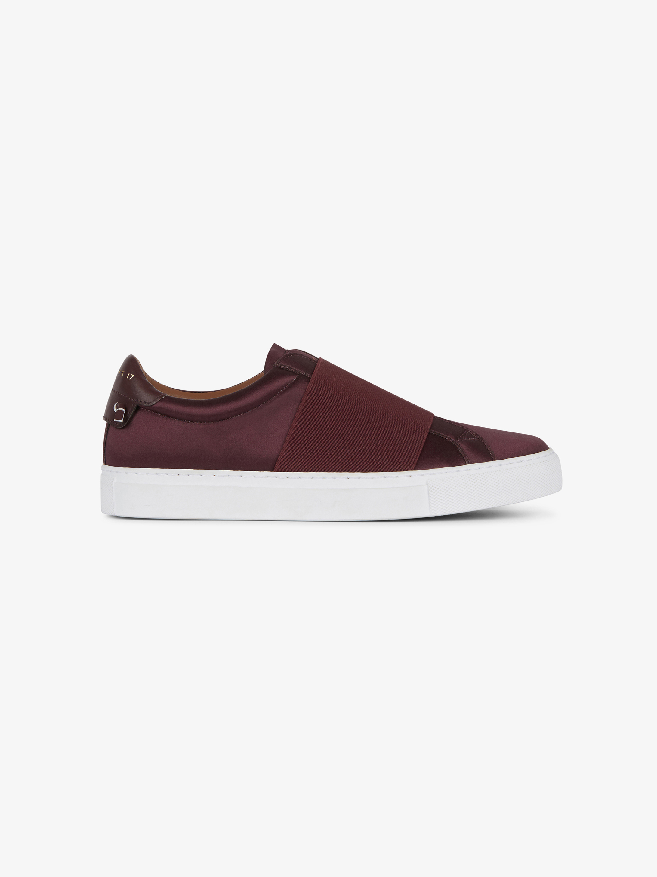 Elastic strap sneakers in satin