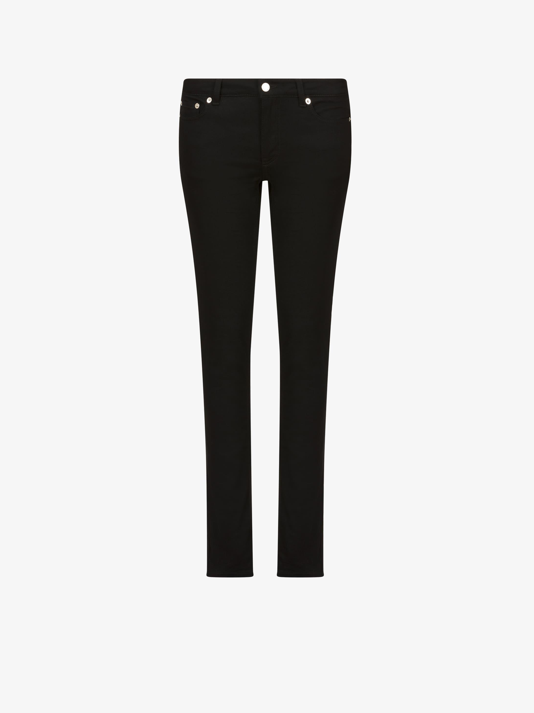 黑色五角星牛仔裤