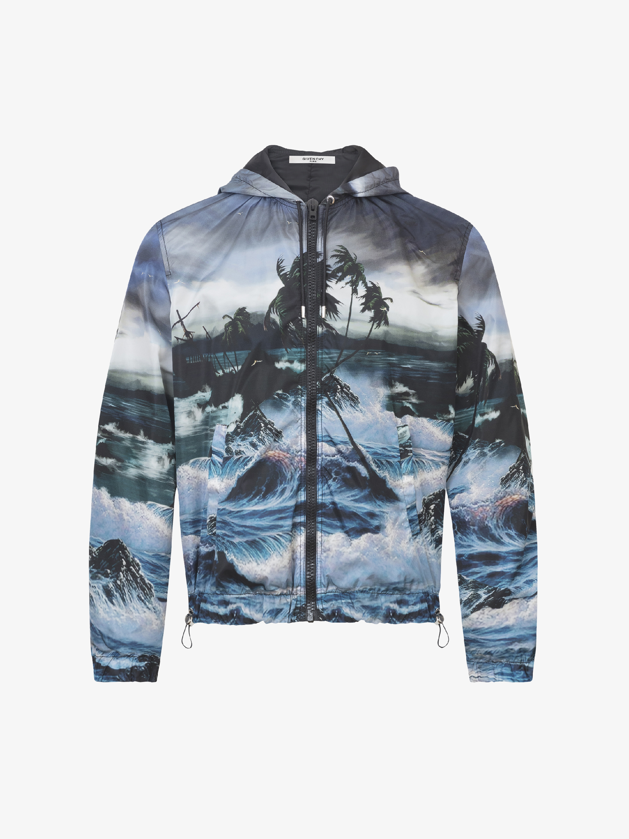 Hawaï printed hooded windbreaker