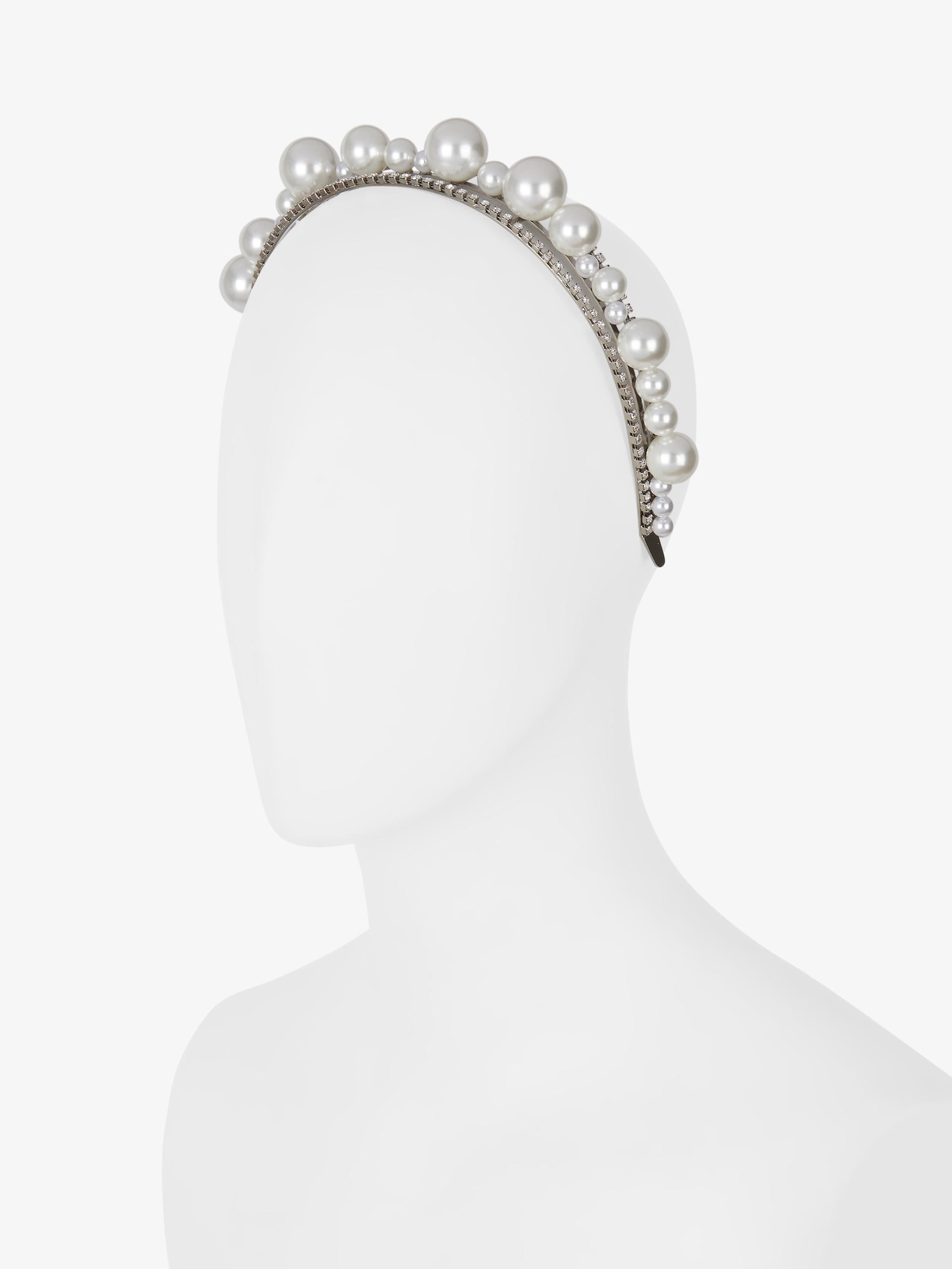 Ariana headband in pearls and crystals
