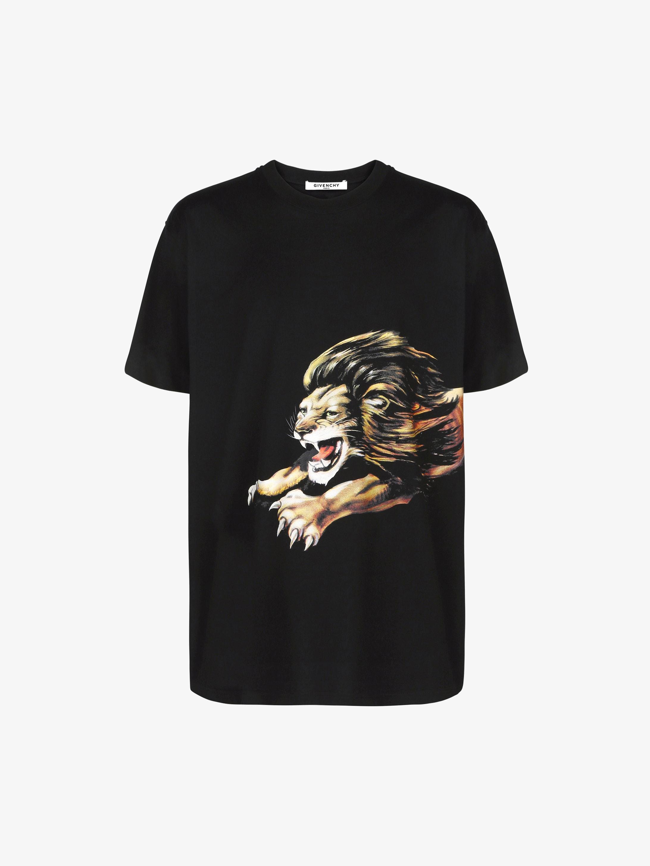 T-shirt oversize con stampa Leone