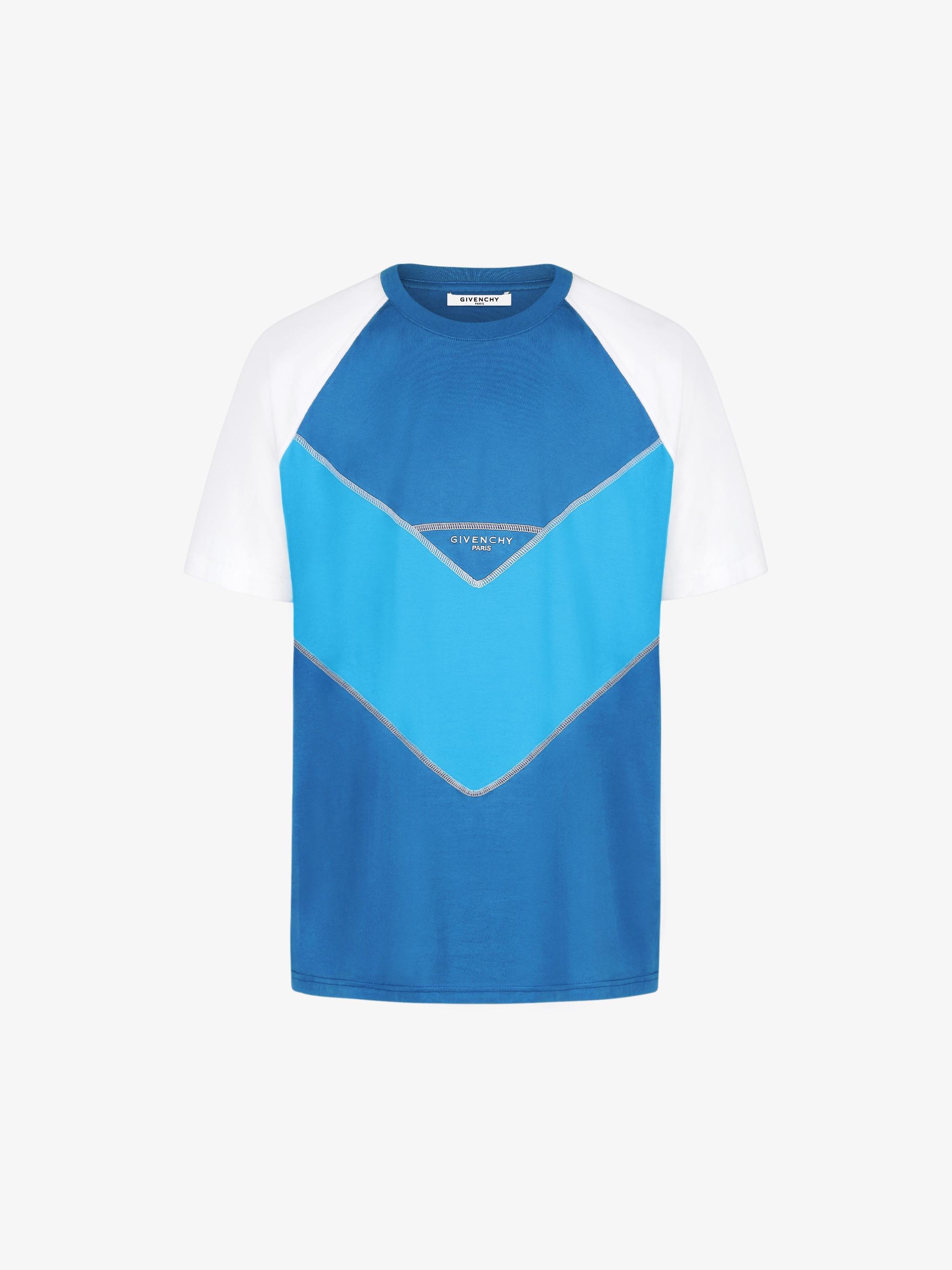 GIVENCHY PARIS  three tone contrasting stitching T-shirt