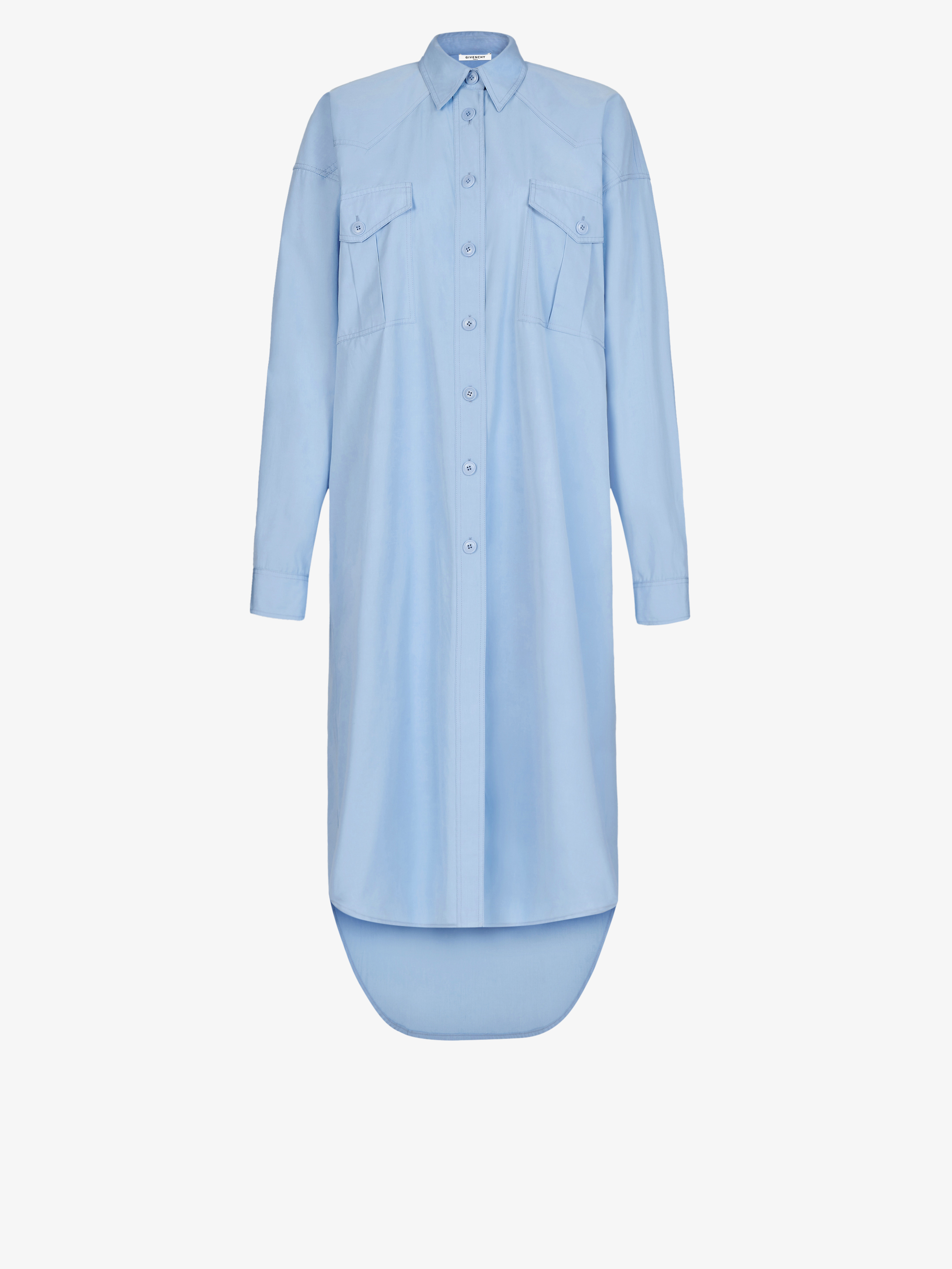 Oversized shirt dress in cotton