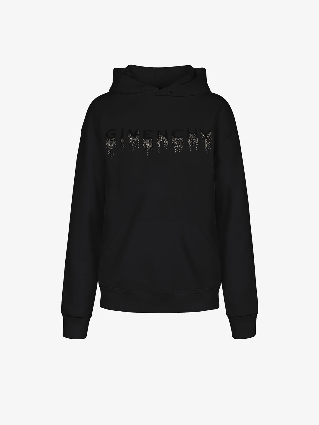 GIVENCHY faded effect embroidered hoodie