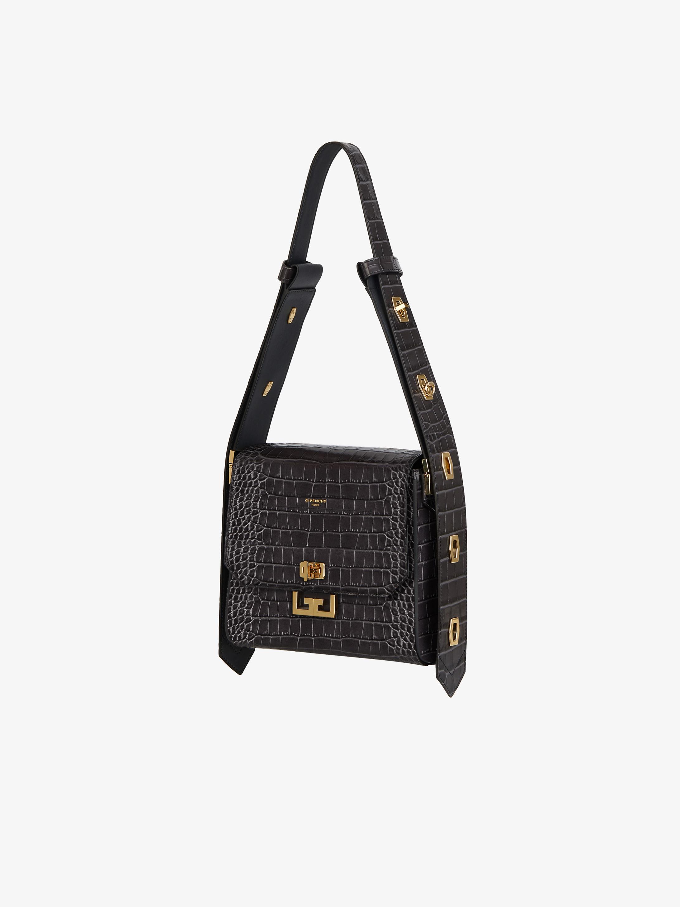 Medium Eden bag in crocodile effect leather