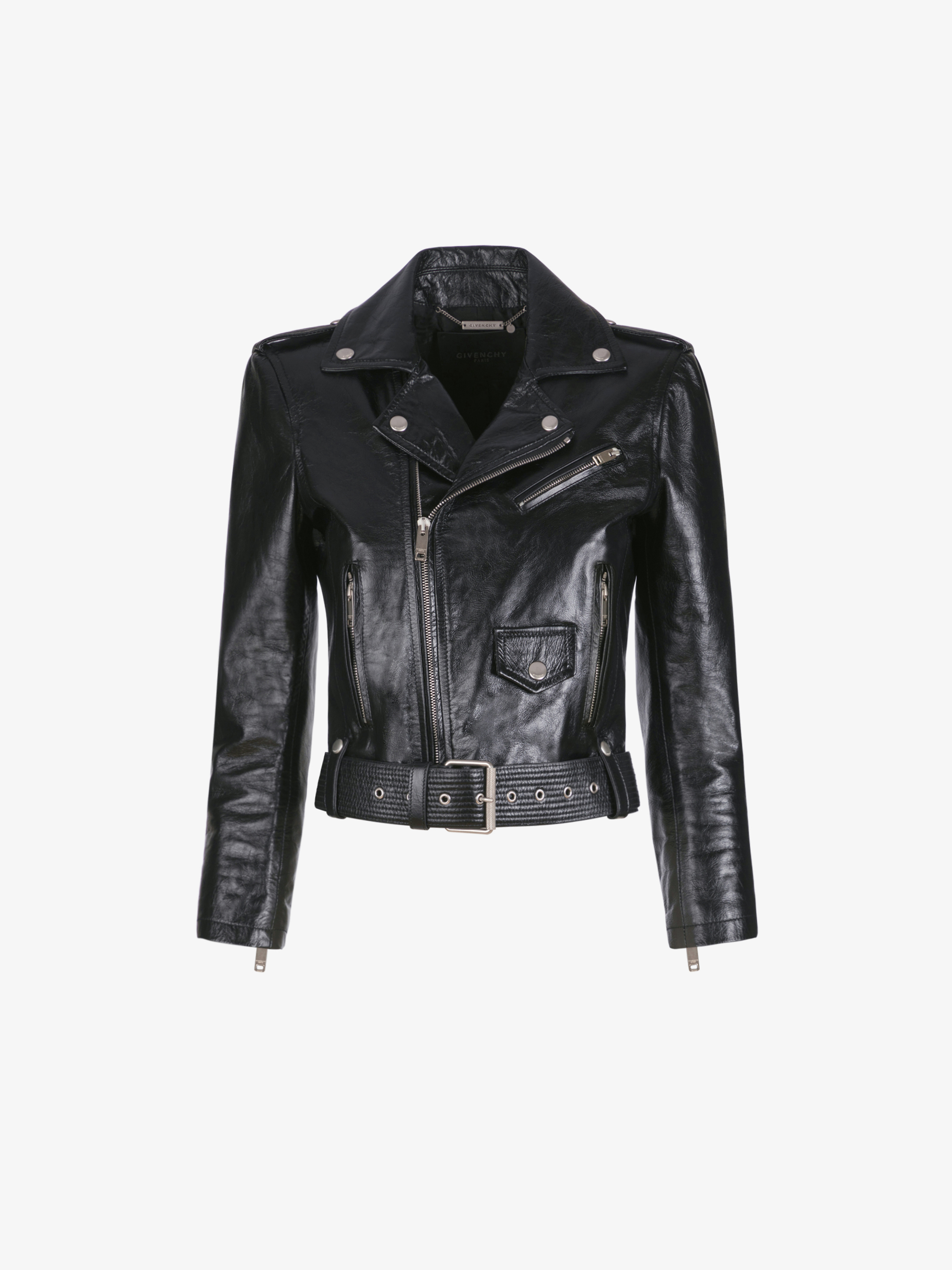 Biker jacket in vintage leather