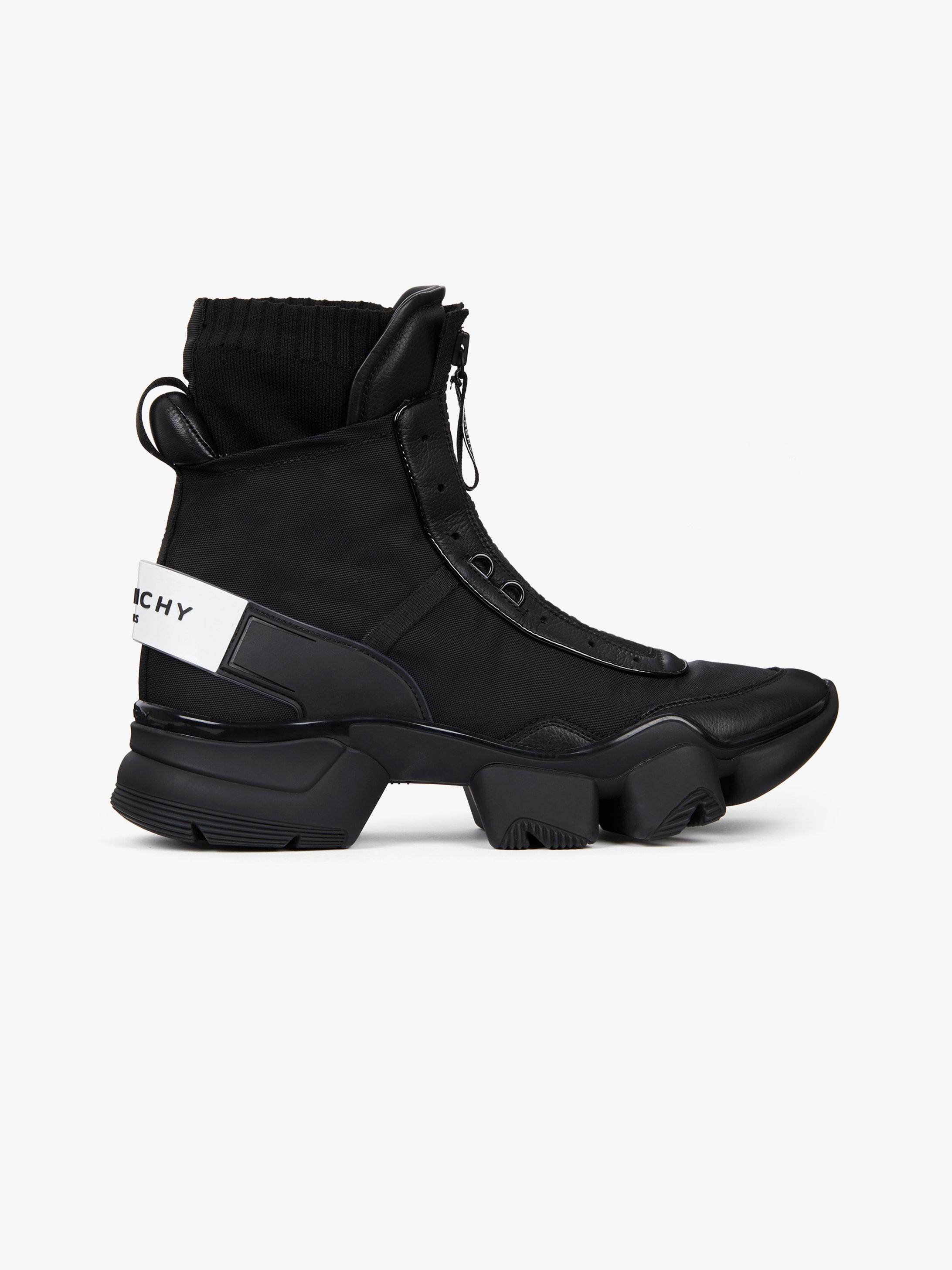 JAW高帮运动鞋,尼龙、皮革和针织面料