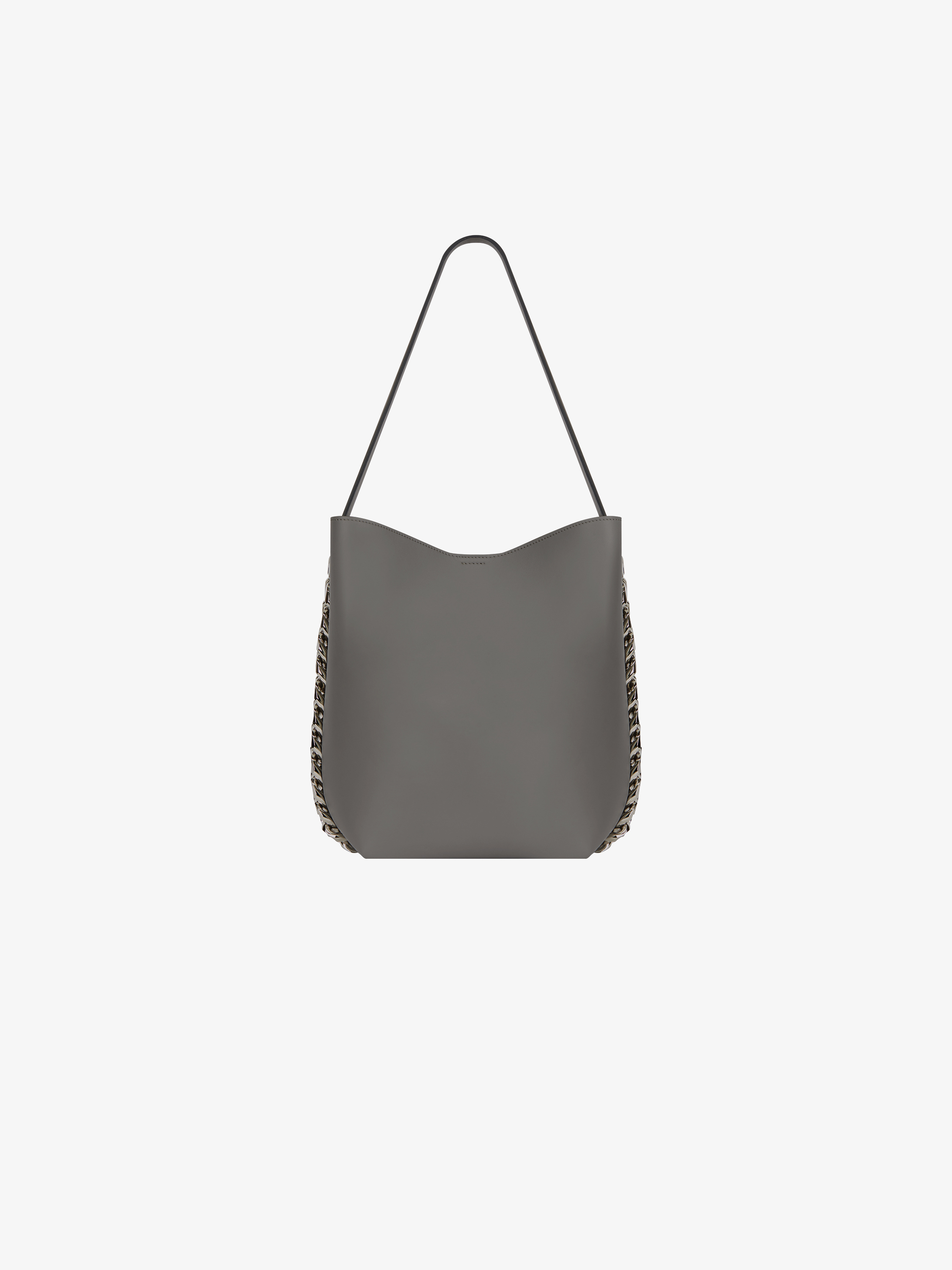 Infinity bucket bag in leather