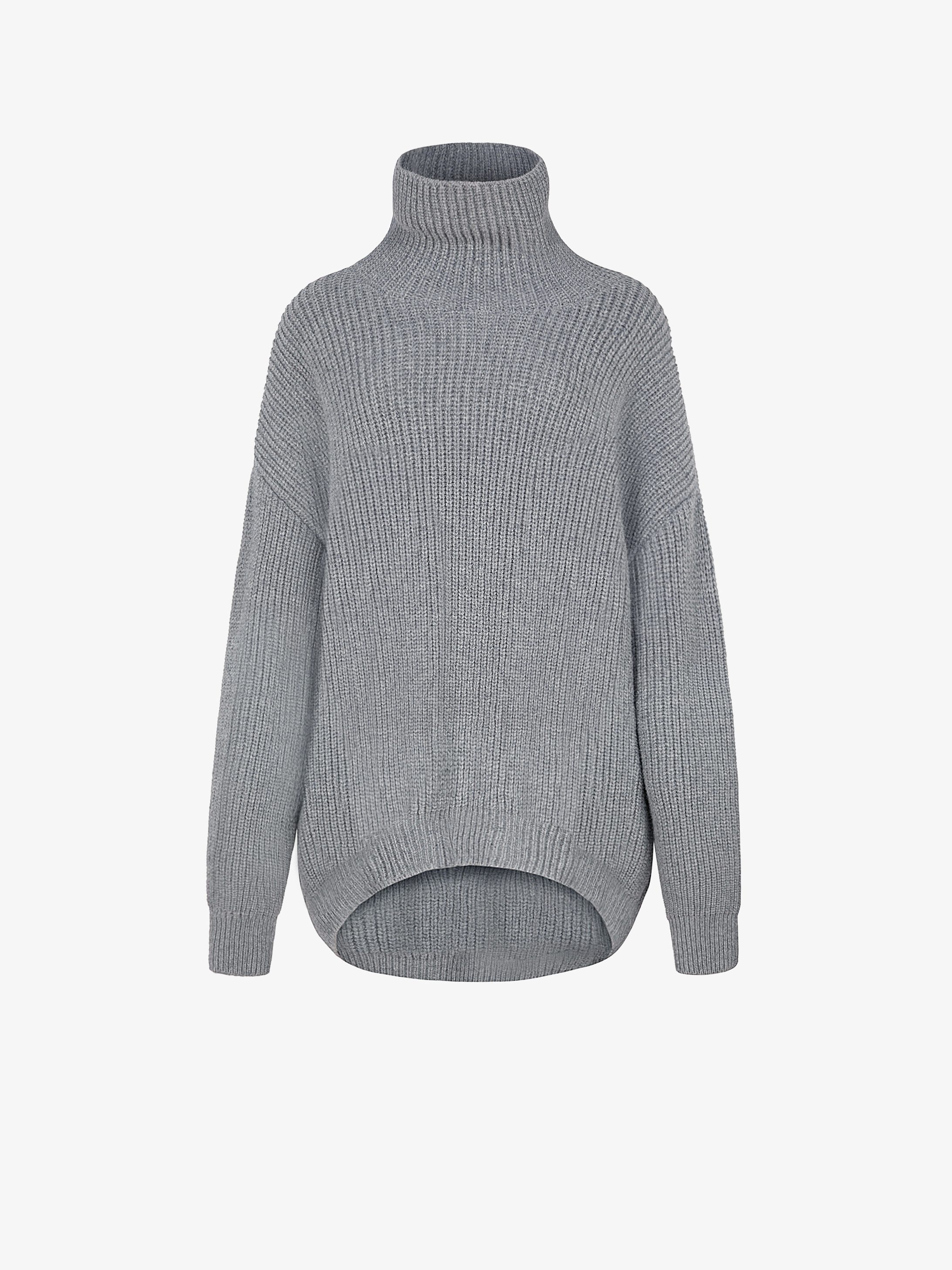 Oversized sweater in alpaca and wool