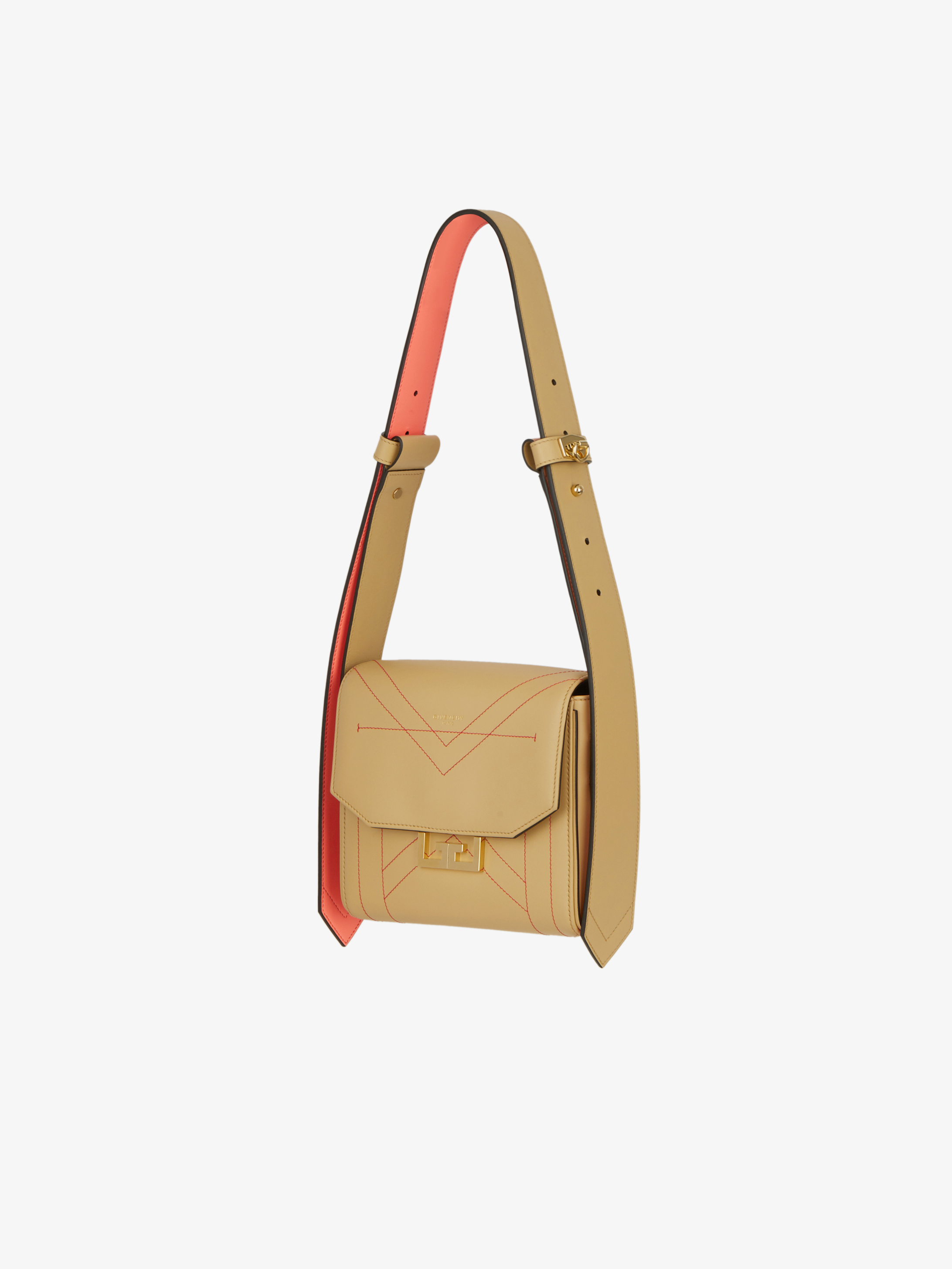 Small Eden bag in contrasted leather