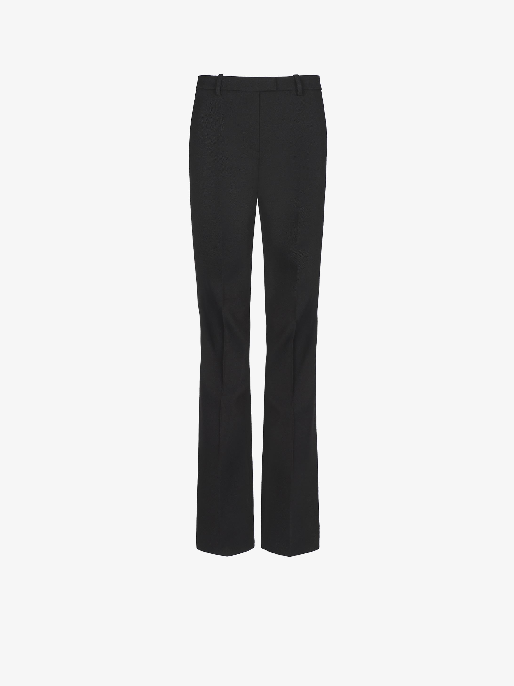Pantalon bootcut en laine