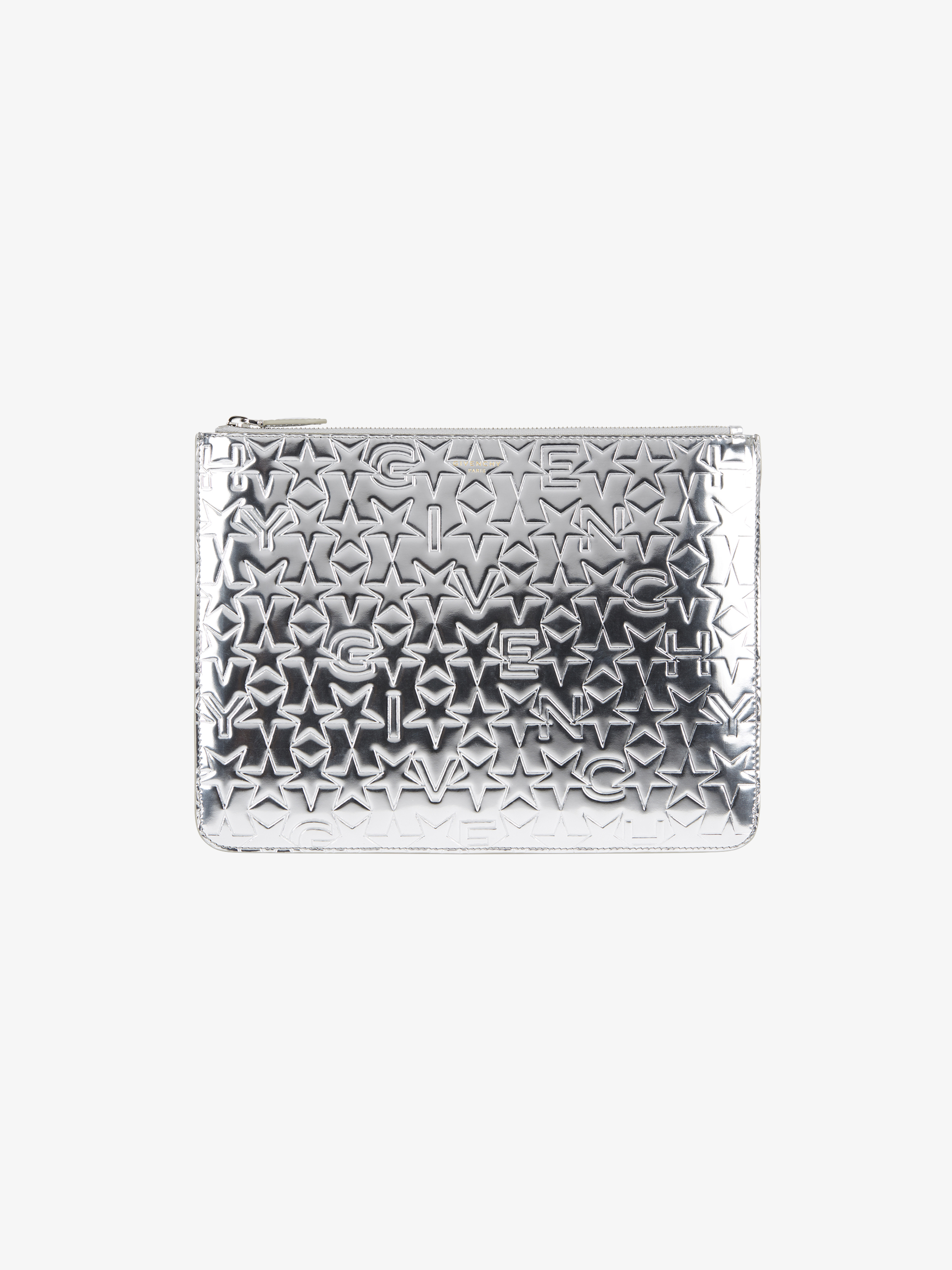 GIVENCHY & Stars embossed pouch in leather