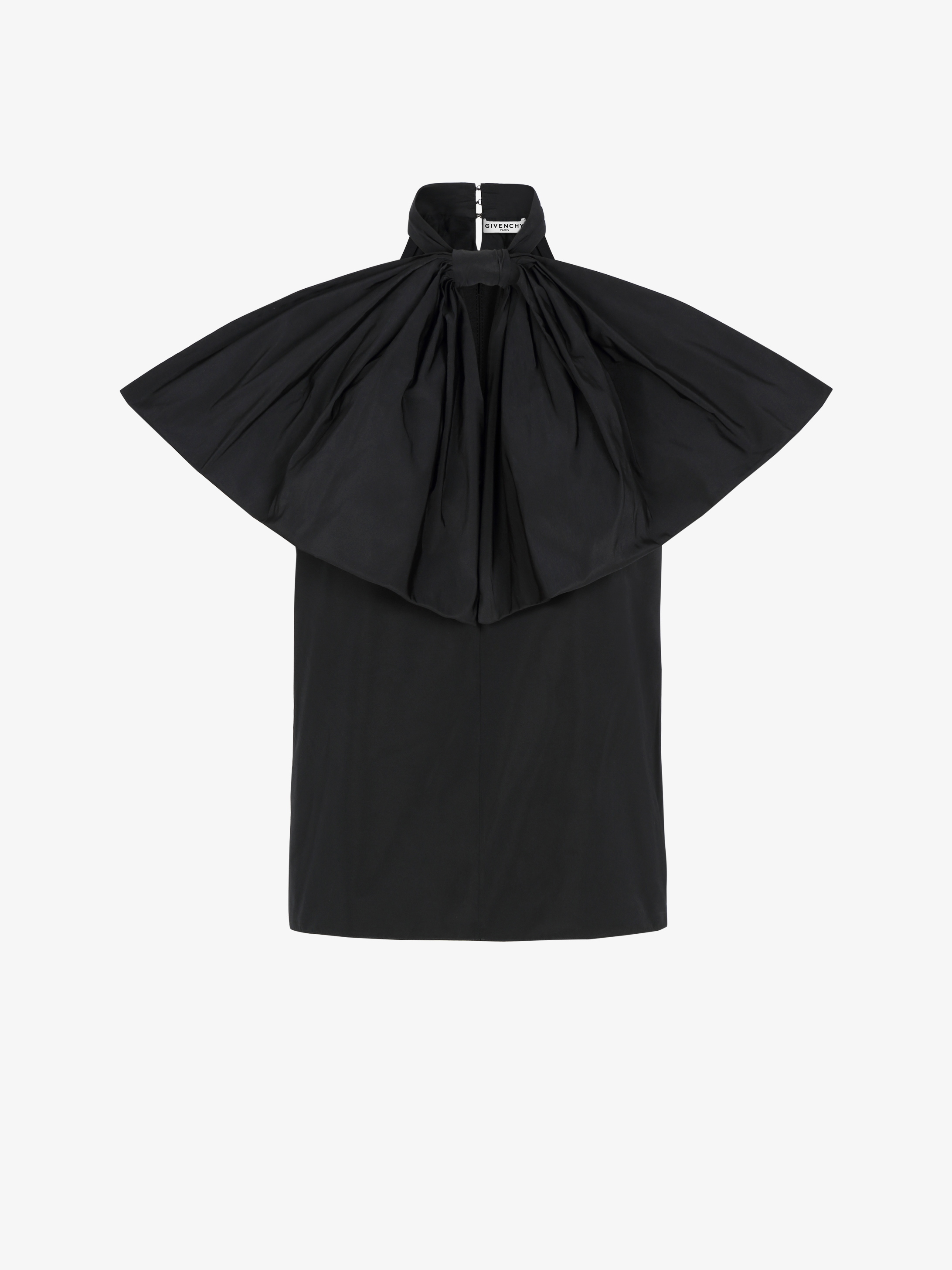 Top in taffetas with oversized bow