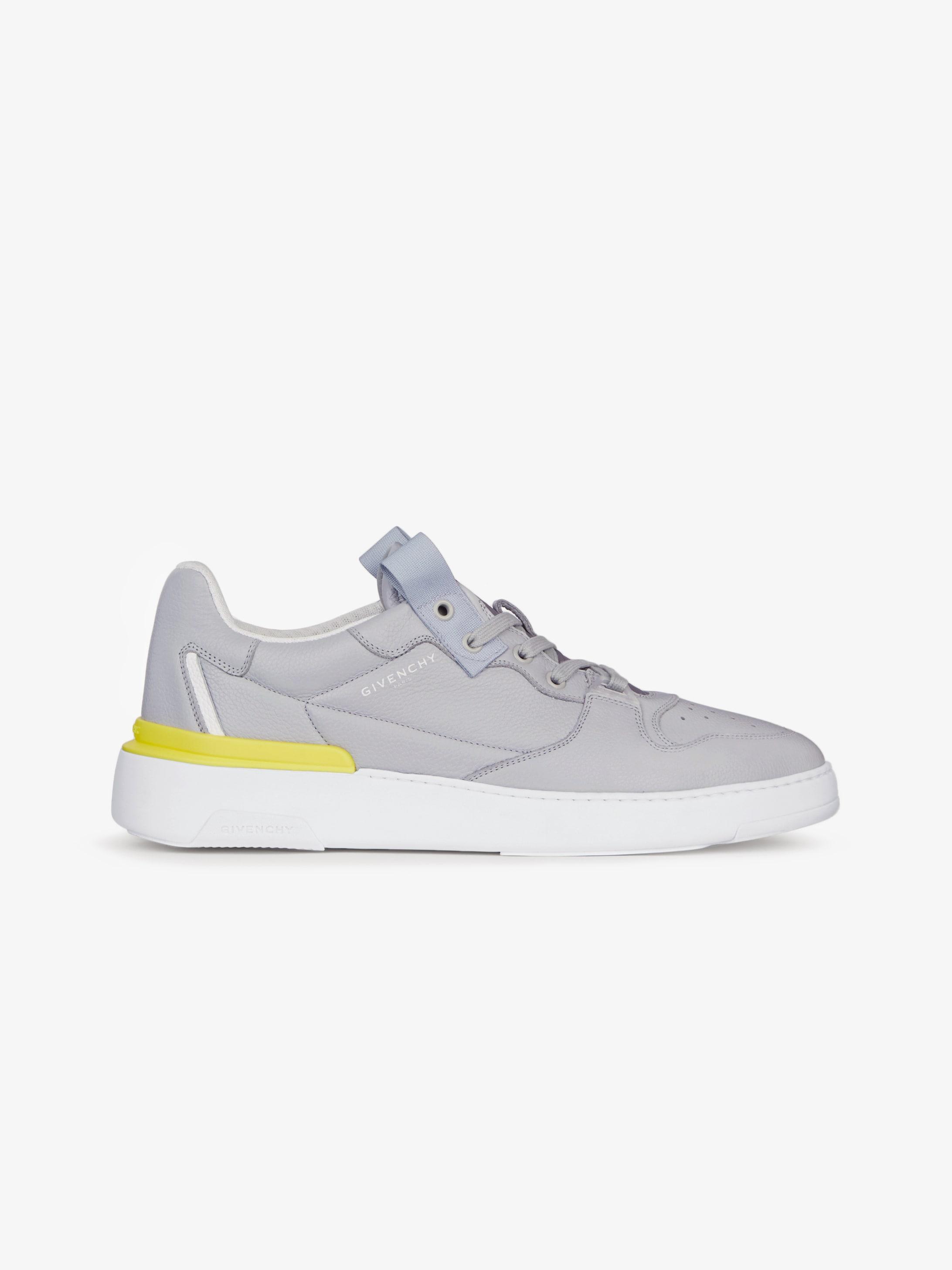 Sneaker basse Wing di pelle fiore