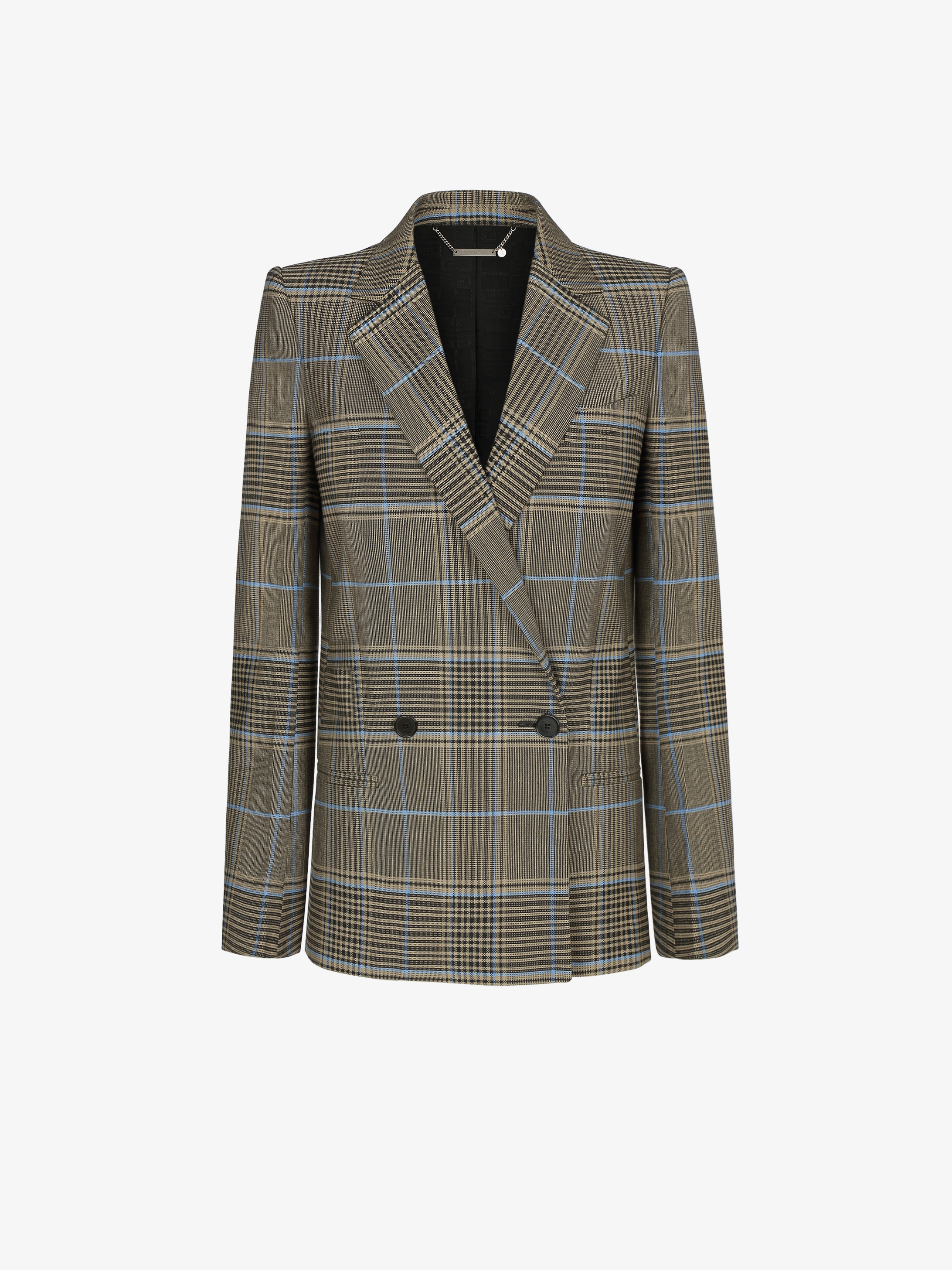 Double breasted checked jacket