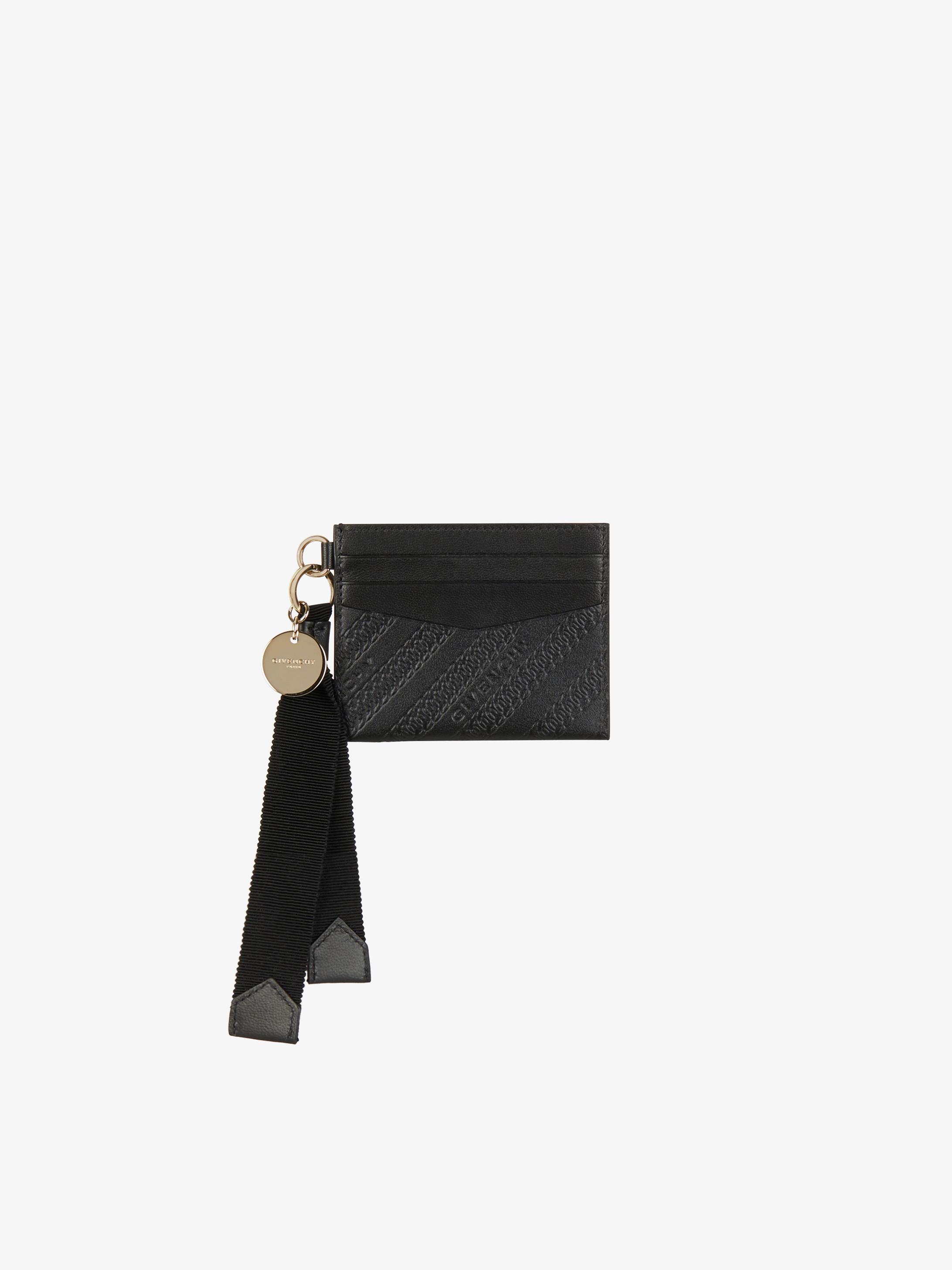 Bond card holder in GIVENCHY chain leather