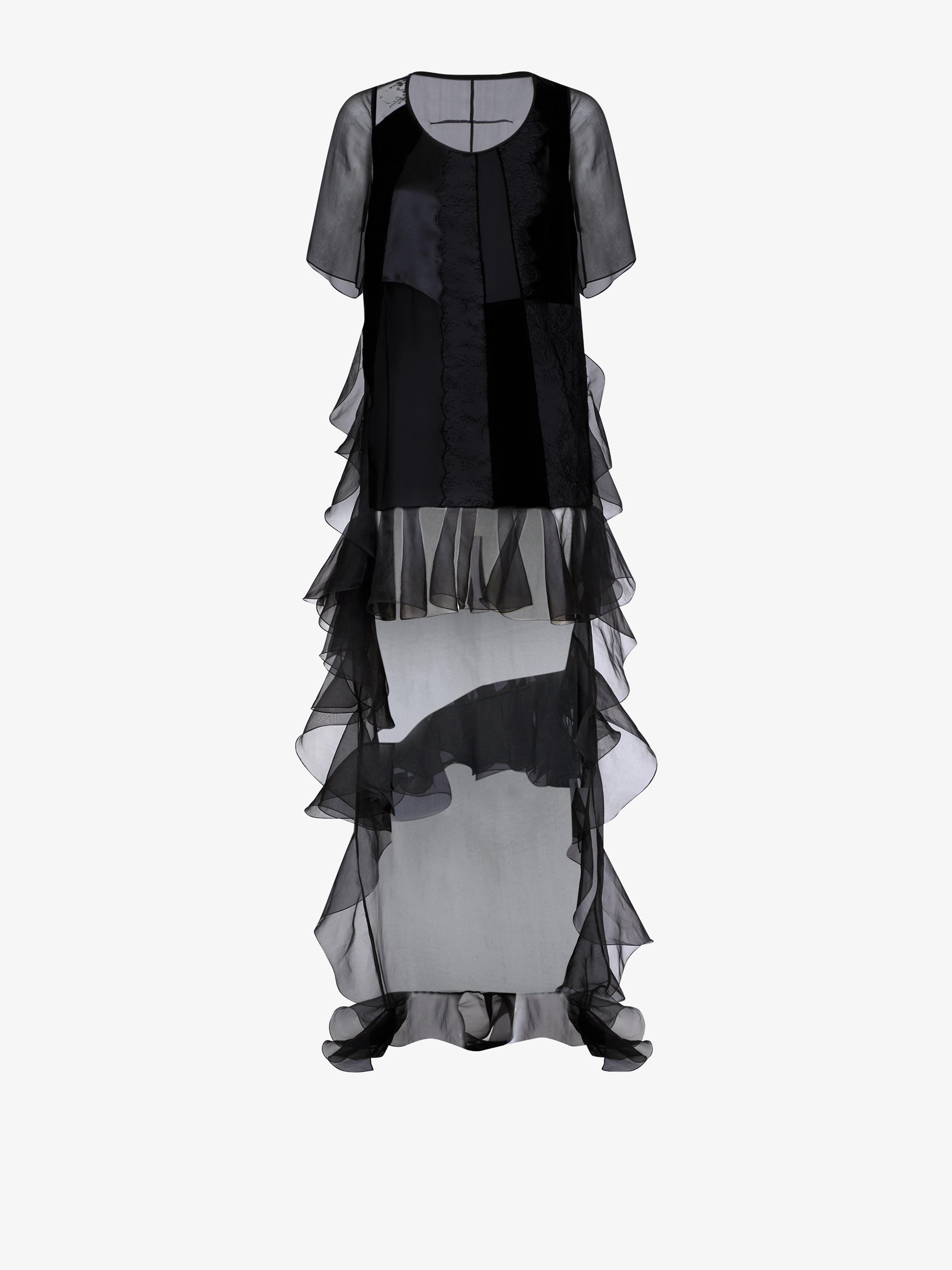 Asymmetric long dress
