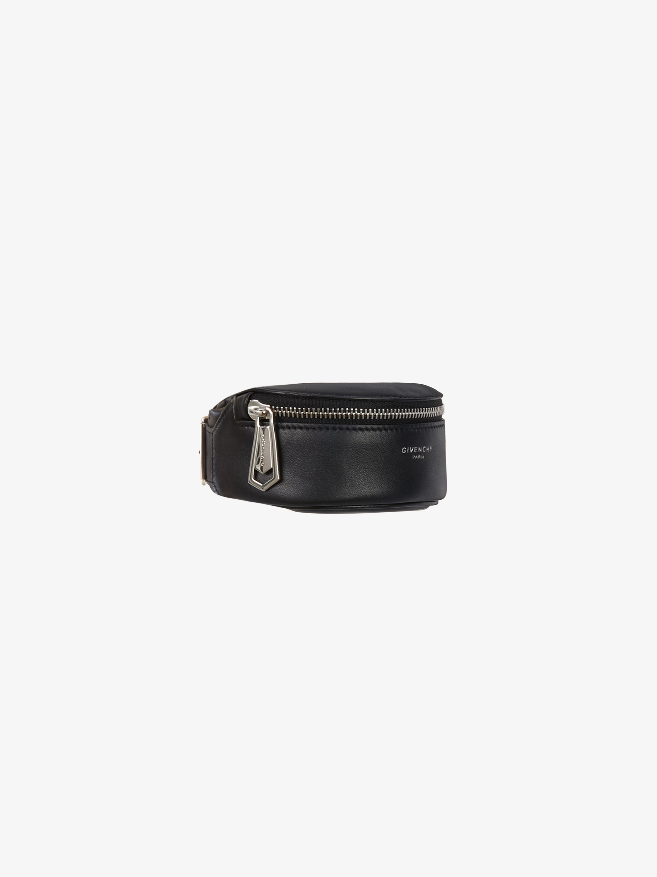 Mini bum bag bracelet in leather