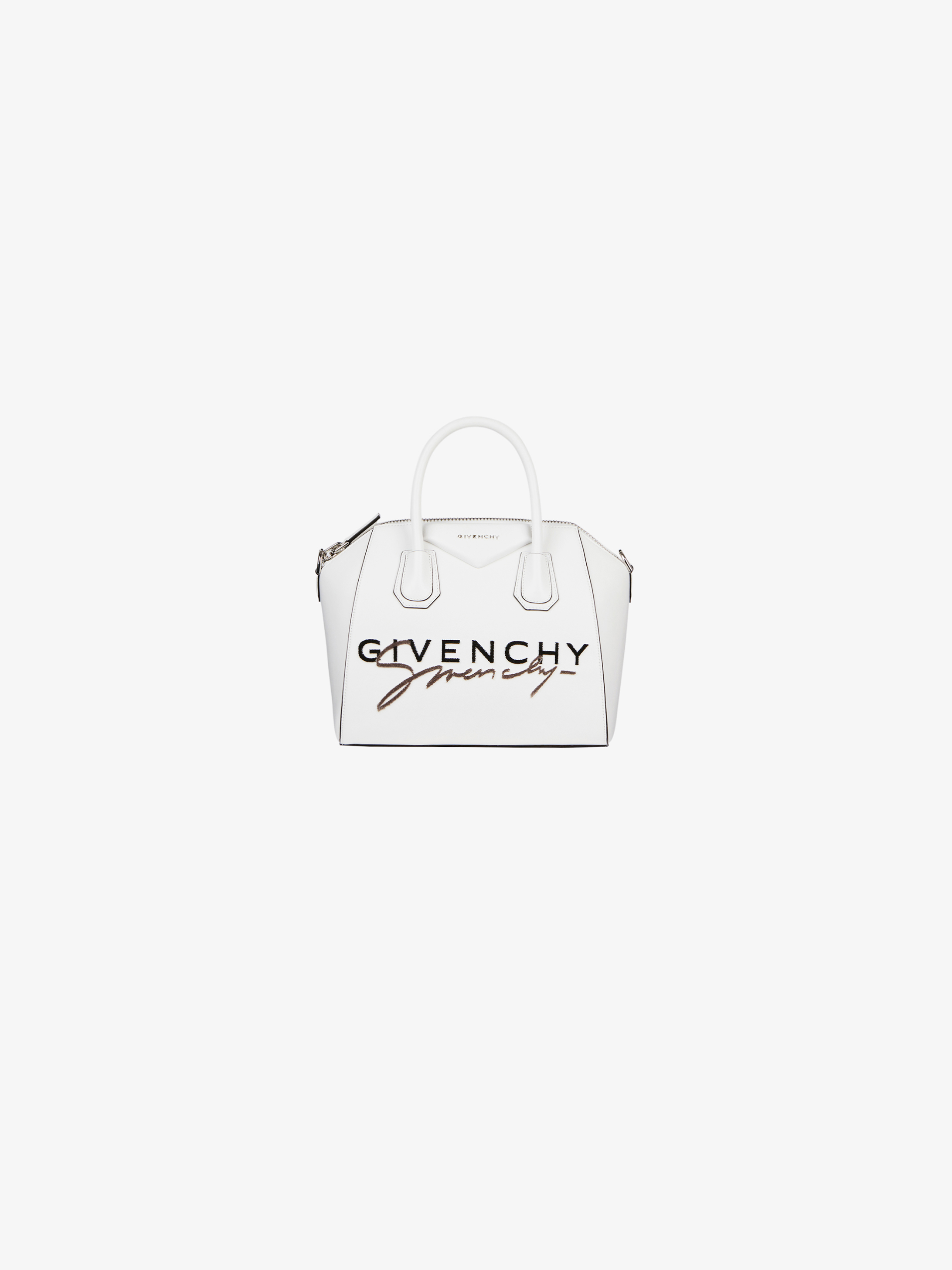 GIVENCHY embroidered mini Antigona bag in leather