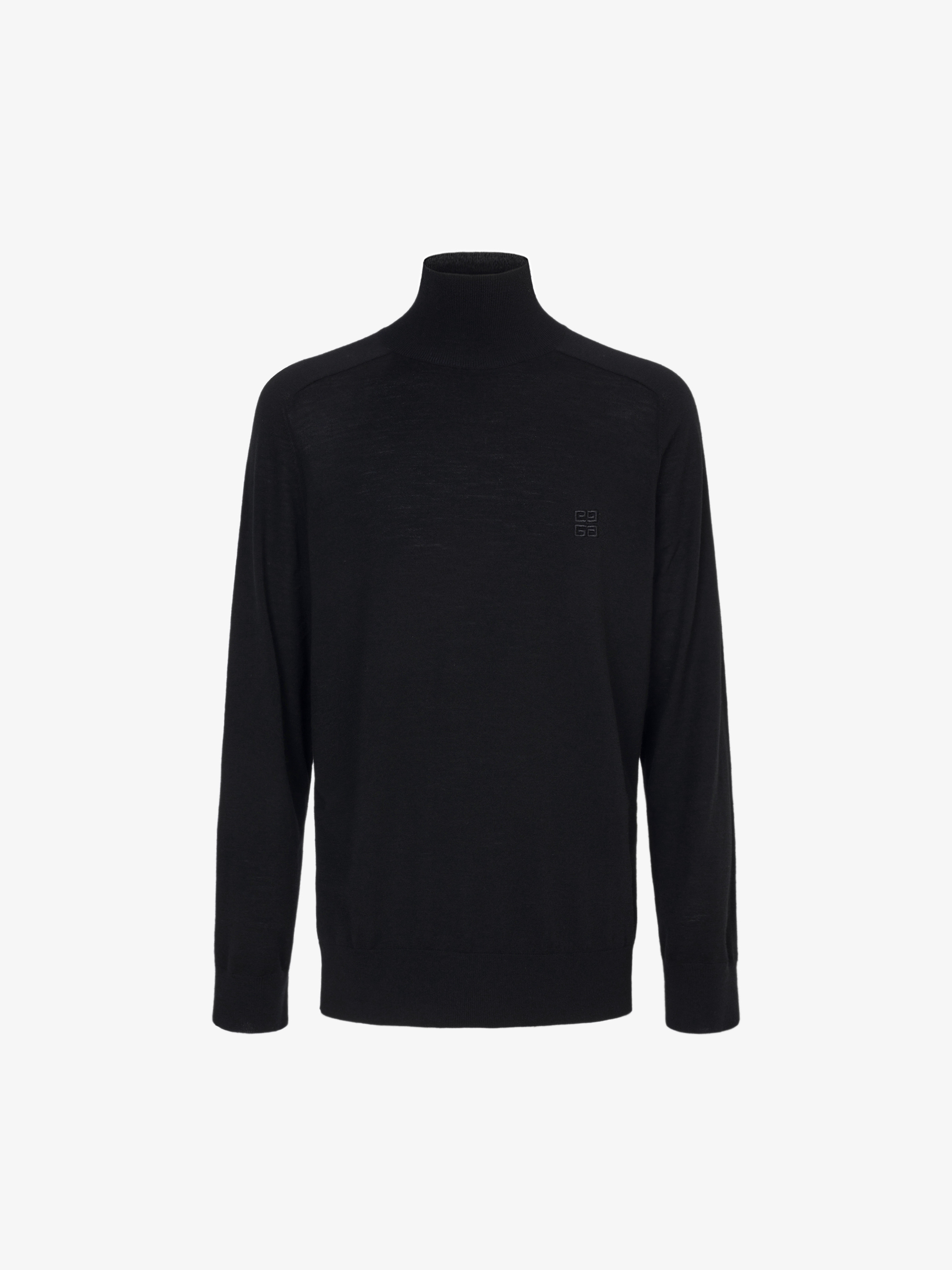 4G turtleneck sweater in wool