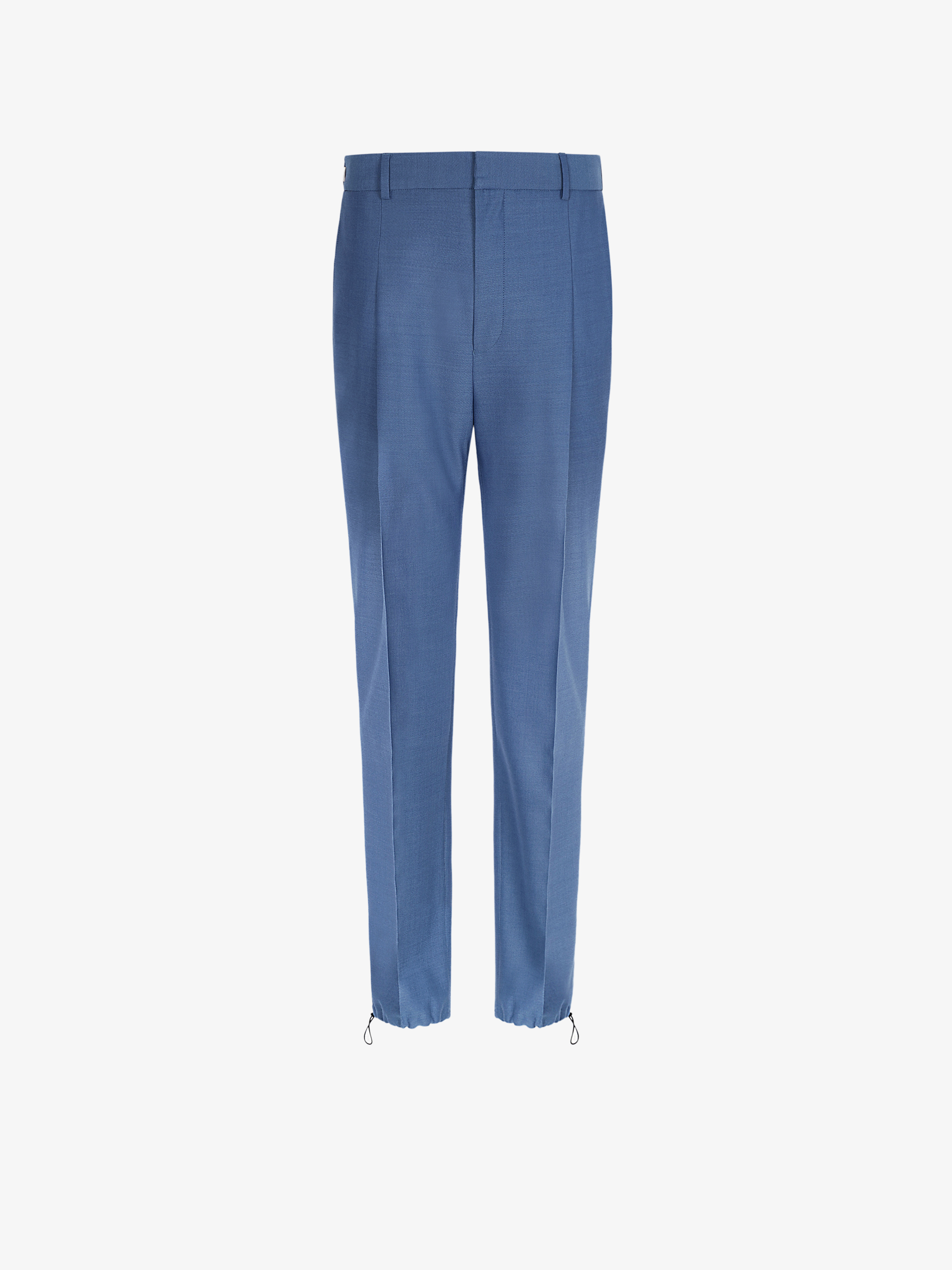 Jogger pants in wool with elastic details